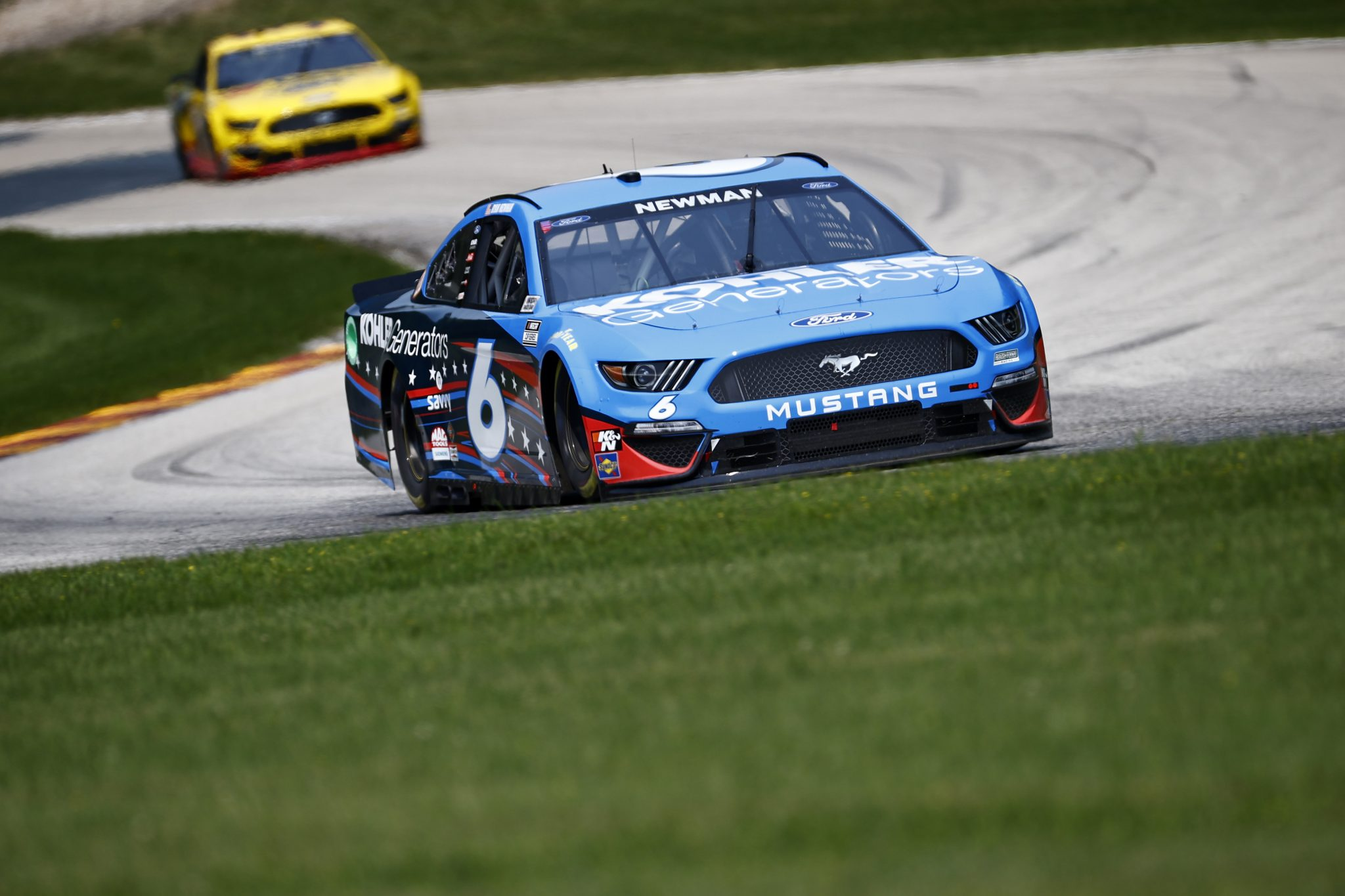 ELKHART LAKE, WISCONSIN - JULY 03: Ryan Newman, driver of the #6 Kohler Generators Ford, drives during practice for the NASCAR Cup Series Jockey Made in America 250 Presented by Kwik Trip at Road America on July 03, 2021 in Elkhart Lake, Wisconsin. (Photo by Jared C. Tilton/Getty Images) | Getty Images