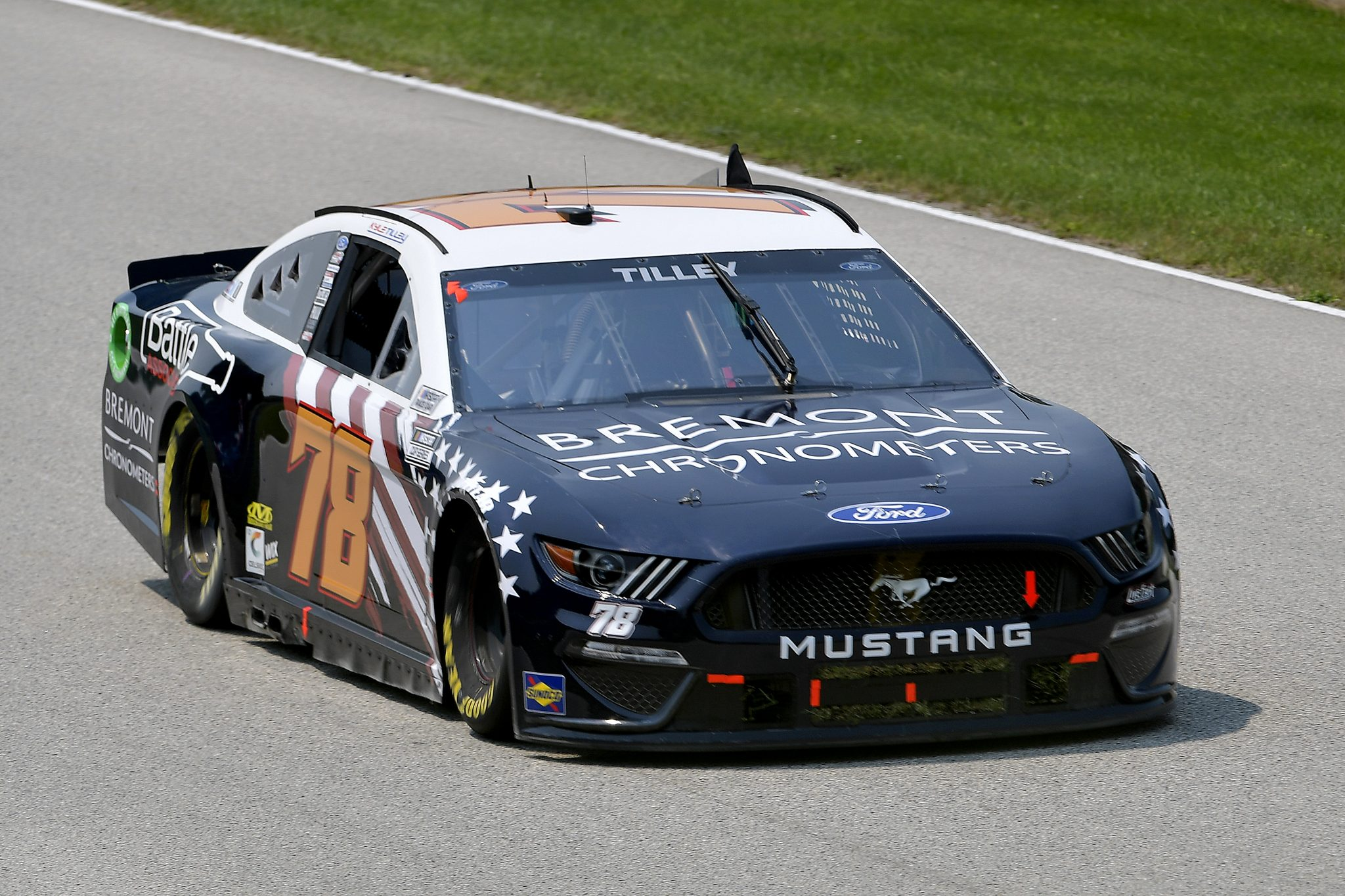 ELKHART LAKE, WISCONSIN - JULY 03: Kyle Tilley, driver of the #78 Bremont/Battle Associates Ford, drives during practice for the NASCAR Cup Series Jockey Made in America 250 Presented by Kwik Trip at Road America on July 03, 2021 in Elkhart Lake, Wisconsin. (Photo by Logan Riely/Getty Images)   Getty Images