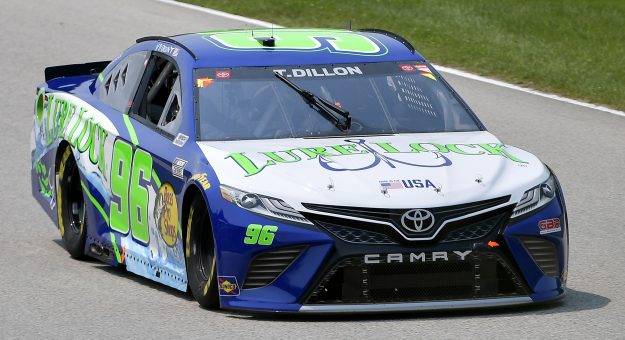 ELKHART LAKE, WISCONSIN - JULY 03: Ty Dillon, driver of the #96 Lure Lock/Bass Pro Shops Toyota, drives during practice for the NASCAR Cup Series Jockey Made in America 250 Presented by Kwik Trip at Road America on July 03, 2021 in Elkhart Lake, Wisconsin. (Photo by Logan Riely/Getty Images) | Getty Images