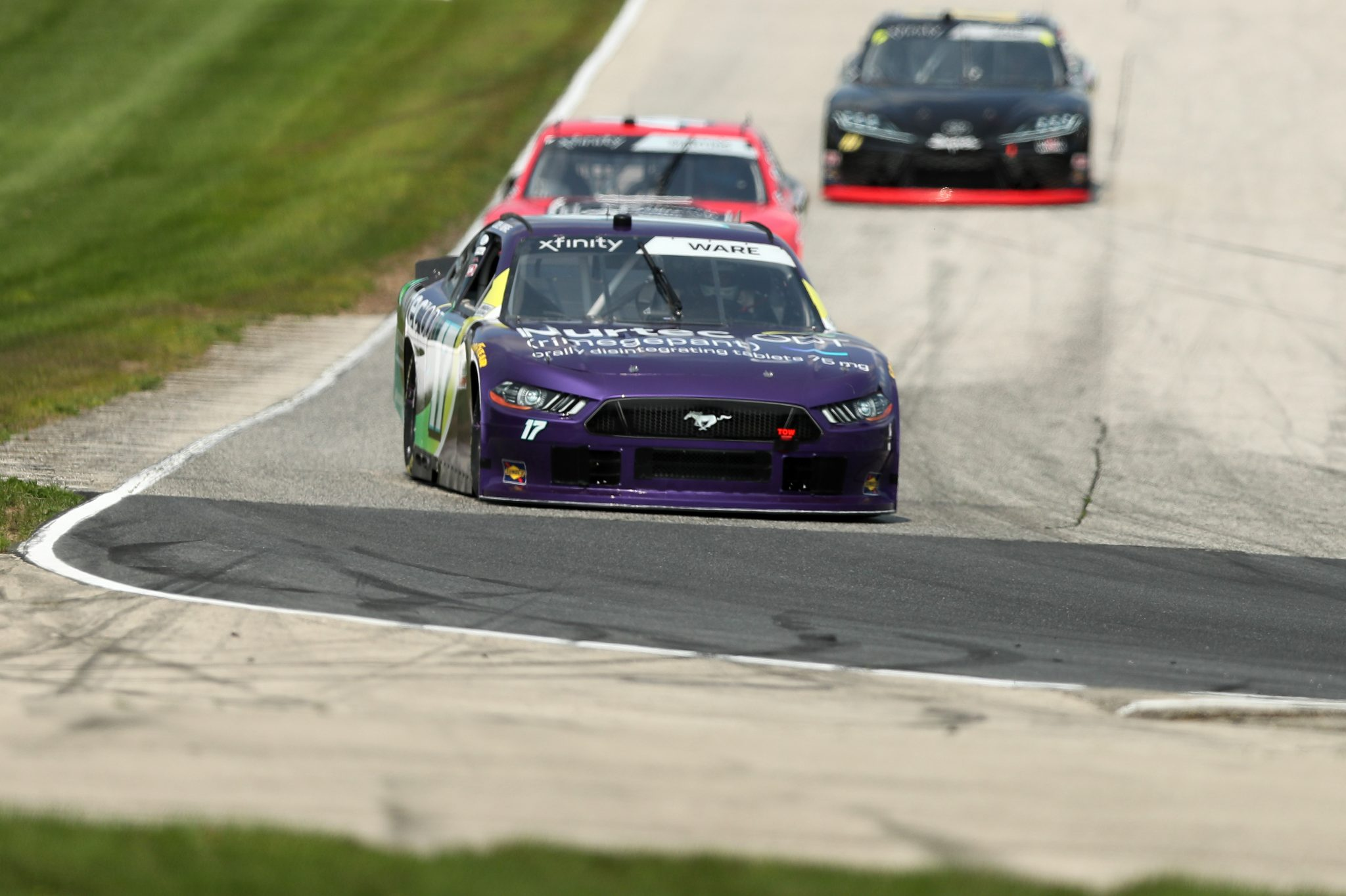 ELKHART LAKE, WISCONSIN - JULY 02: Cody Ware, driver of the #17 Nurtec ODT Ford, drives during practice for the NASCAR Xfinity Series Henry 180 at Road America on July 02, 2021 in Elkhart Lake, Wisconsin. (Photo by James Gilbert/Getty Images)   Getty Images