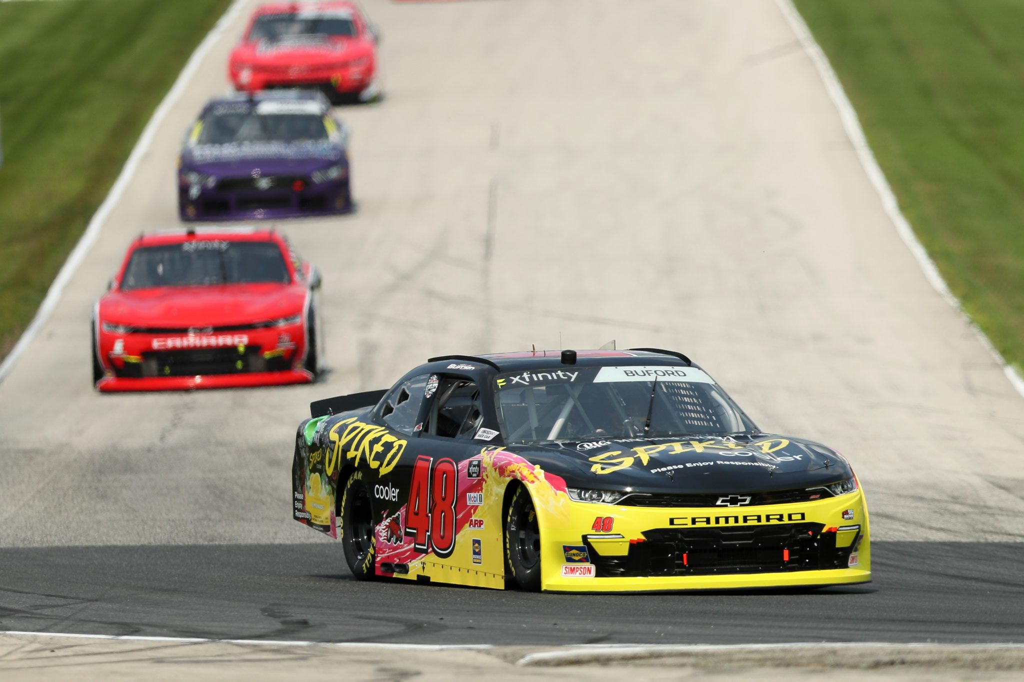 ELKHART LAKE, WISCONSIN - JULY 02: Jade Buford, driver of the #48 Big Machine Spiked Coolers Chevrolet, drives during practice for the NASCAR Xfinity Series Henry 180 at Road America on July 02, 2021 in Elkhart Lake, Wisconsin. (Photo by James Gilbert/Getty Images) | Getty Images