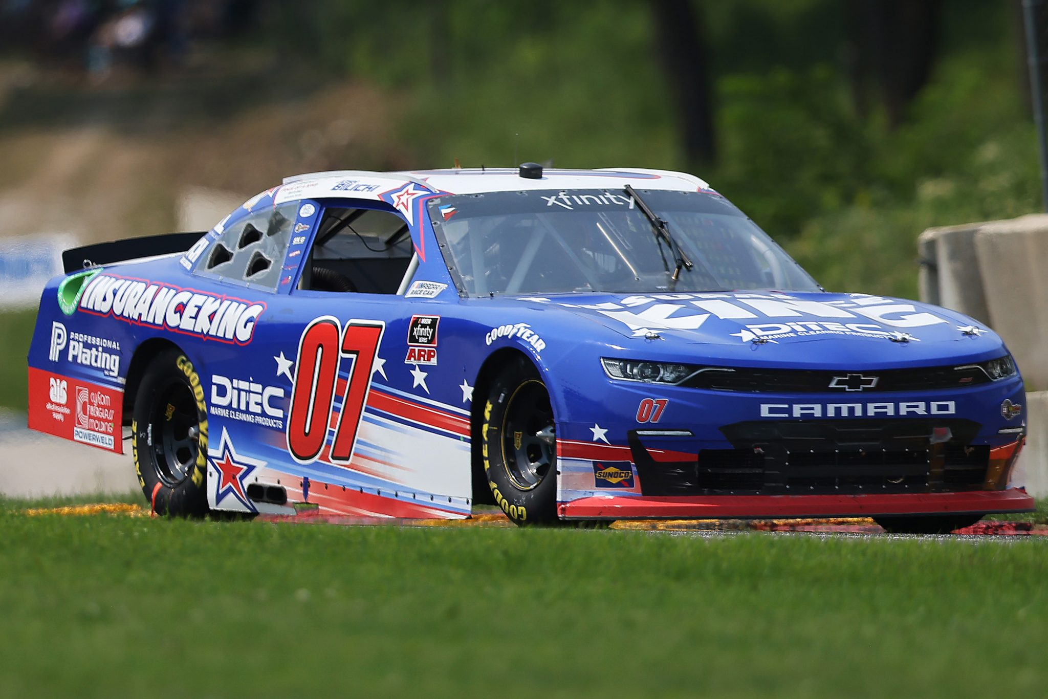 ELKHART LAKE, WISCONSIN - JULY 03: Josh Bilicki, driver of the #07 Insurance King/DITEC Chevrolet, drives during the NASCAR Xfinity Series Henry 180 at Road America on July 03, 2021 in Elkhart Lake, Wisconsin. (Photo by James Gilbert/Getty Images) | Getty Images