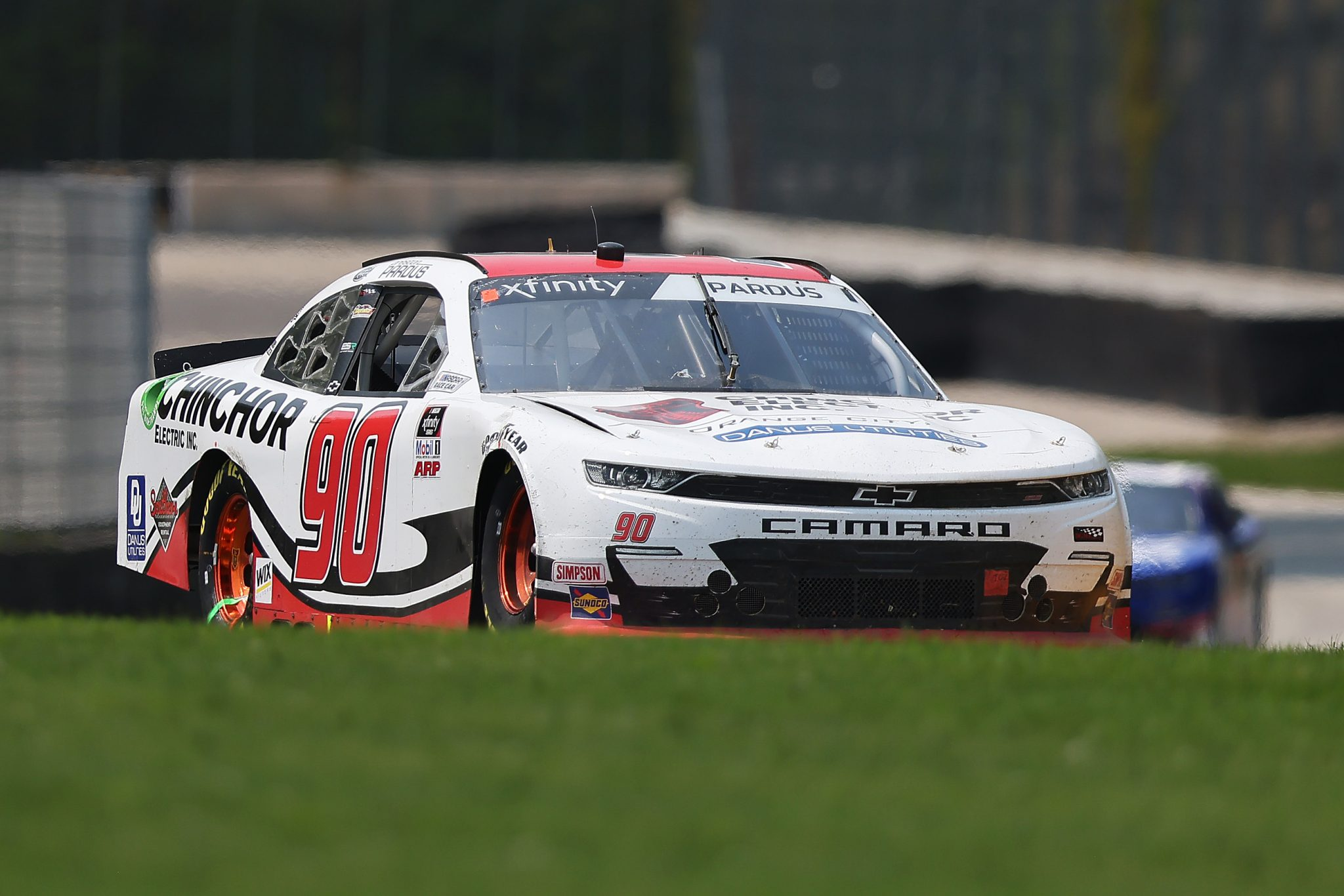 ELKHART LAKE, WISCONSIN - JULY 03: Preston Pardus, driver of the #90 Chinchor Electric/Danus Chevrolet, drives during the NASCAR Xfinity Series Henry 180 at Road America on July 03, 2021 in Elkhart Lake, Wisconsin. (Photo by James Gilbert/Getty Images) | Getty Images