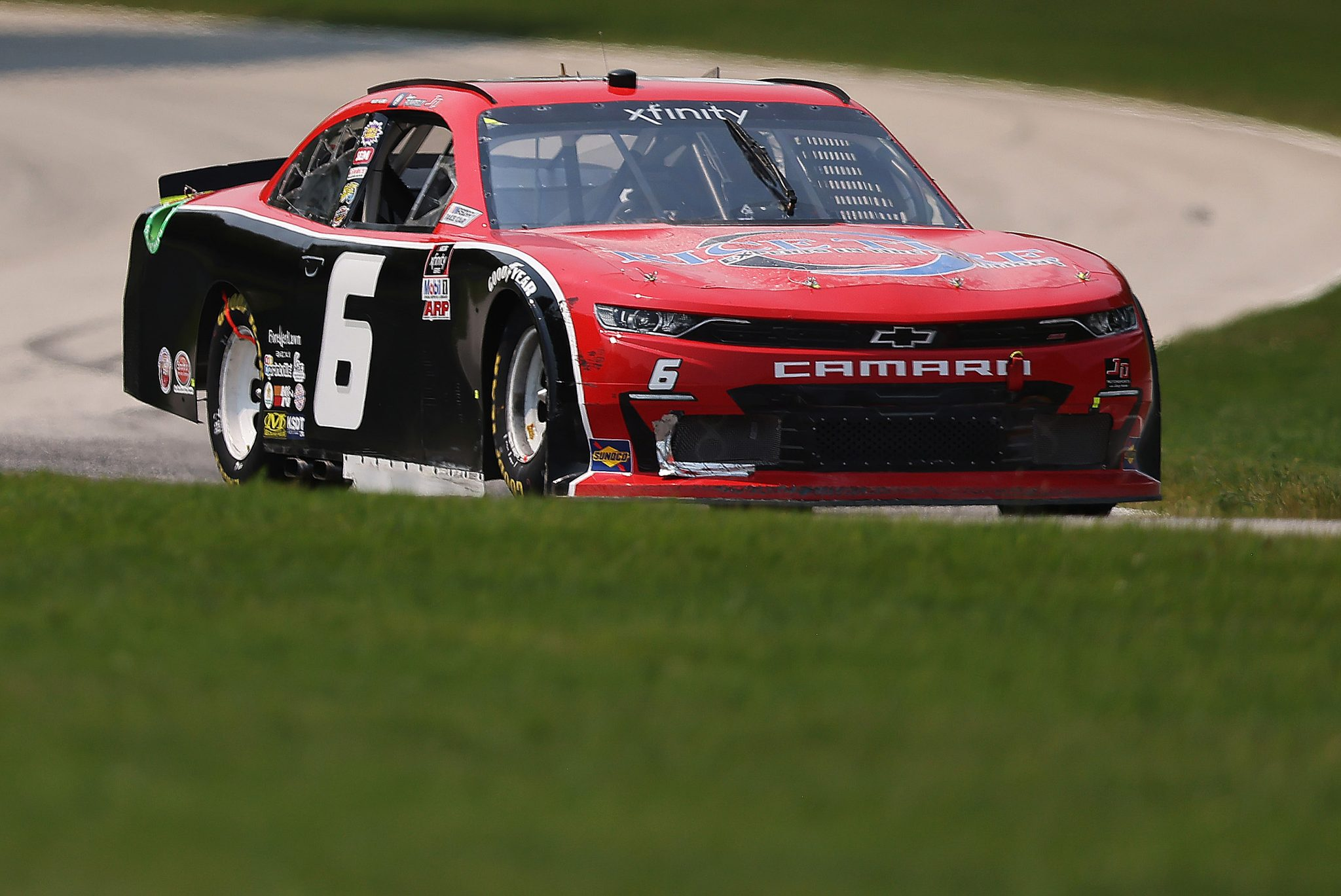ELKHART LAKE, WISCONSIN - JULY 03:, driver of the #6 TeamJDMotorsports.com Chevrolet, drives during the NASCAR Xfinity Series Henry 180 at Road America on July 03, 2021 in Elkhart Lake, Wisconsin. (Photo by James Gilbert/Getty Images) | Getty Images