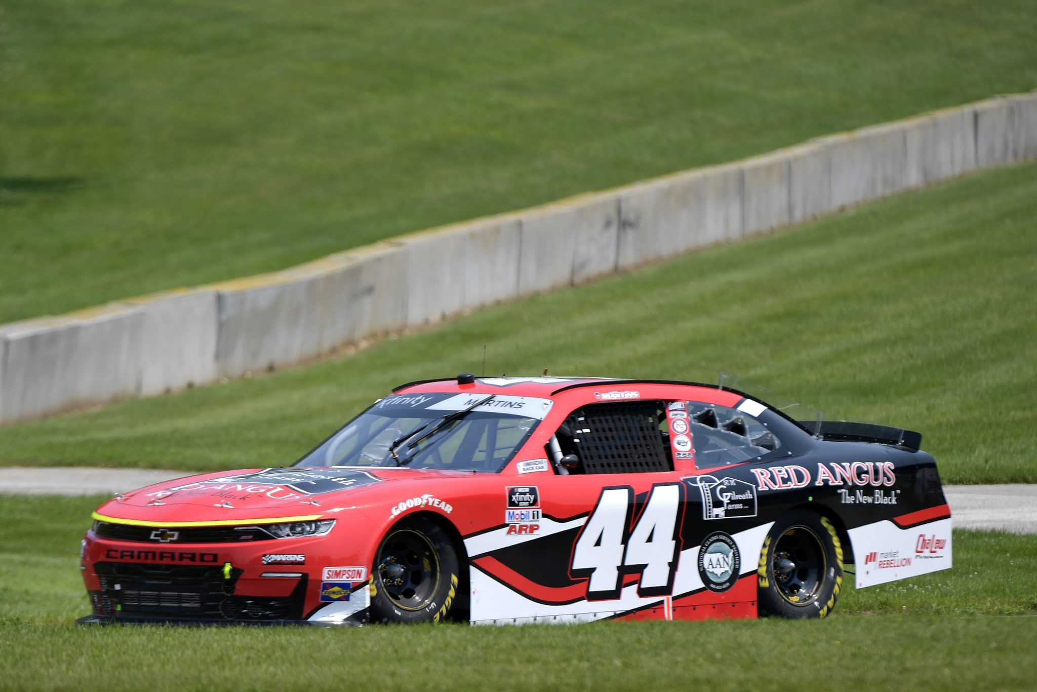 ELKHART LAKE, WISCONSIN - JULY 03: Tommy Joe Martins, driver of the #44 Gilreath Farms Red Angus Chevrolet, drives during the NASCAR Xfinity Series Henry 180 at Road America on July 03, 2021 in Elkhart Lake, Wisconsin. (Photo by Logan Riely/Getty Images) | Getty Images