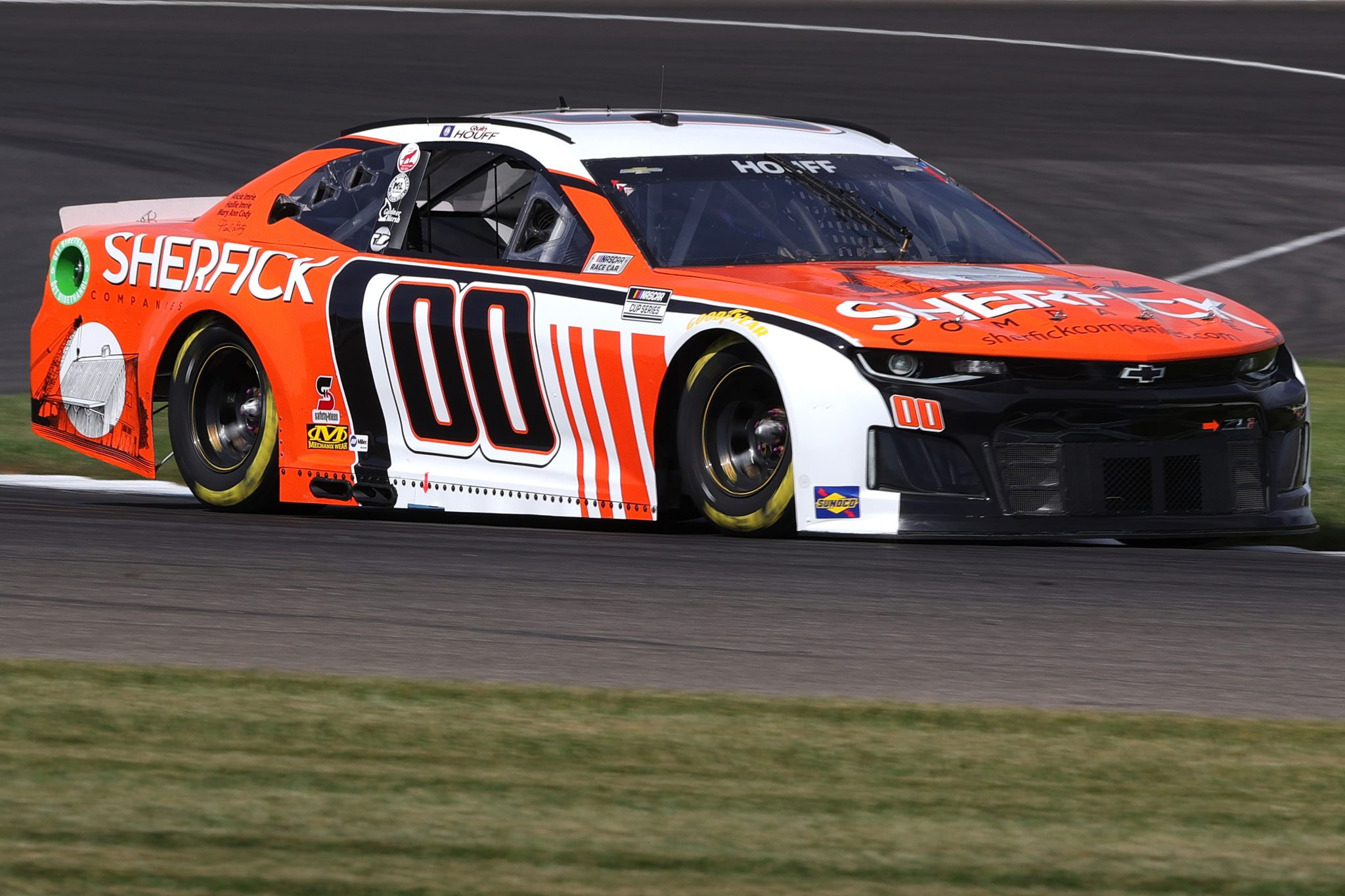 INDIANAPOLIS, INDIANA - AUGUST 14: Quin Houff, driver of the #00 Sherfick Companies Chevrolet, drives during practice for the NASCAR Cup Series Verizon 200 at the Brickyard at Indianapolis Motor Speedway on August 14, 2021 in Indianapolis, Indiana. (Photo by Stacy Revere/Getty Images)   Getty Images
