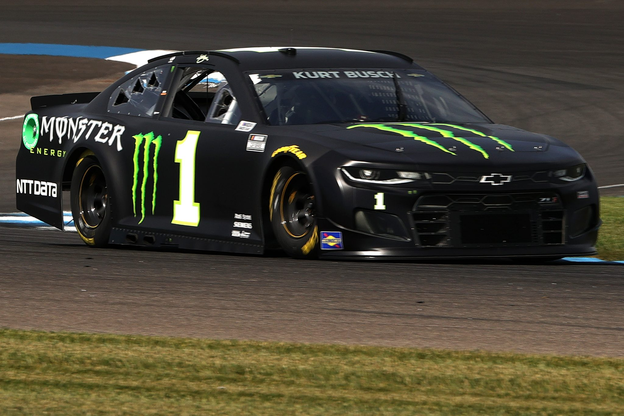 INDIANAPOLIS, INDIANA - AUGUST 14: Kurt Busch, driver of the #1 Monster Energy Chevrolet, drives during practice for the NASCAR Cup Series Verizon 200 at the Brickyard at Indianapolis Motor Speedway on August 14, 2021 in Indianapolis, Indiana. (Photo by Stacy Revere/Getty Images) | Getty Images