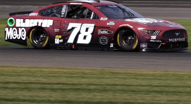 INDIANAPOLIS, INDIANA - AUGUST 14: Kyle Tilley, driver of the #78 Blacktop Mojo Ford, drives during practice for the NASCAR Cup Series Verizon 200 at the Brickyard at Indianapolis Motor Speedway on August 14, 2021 in Indianapolis, Indiana. (Photo by Stacy Revere/Getty Images) | Getty Images