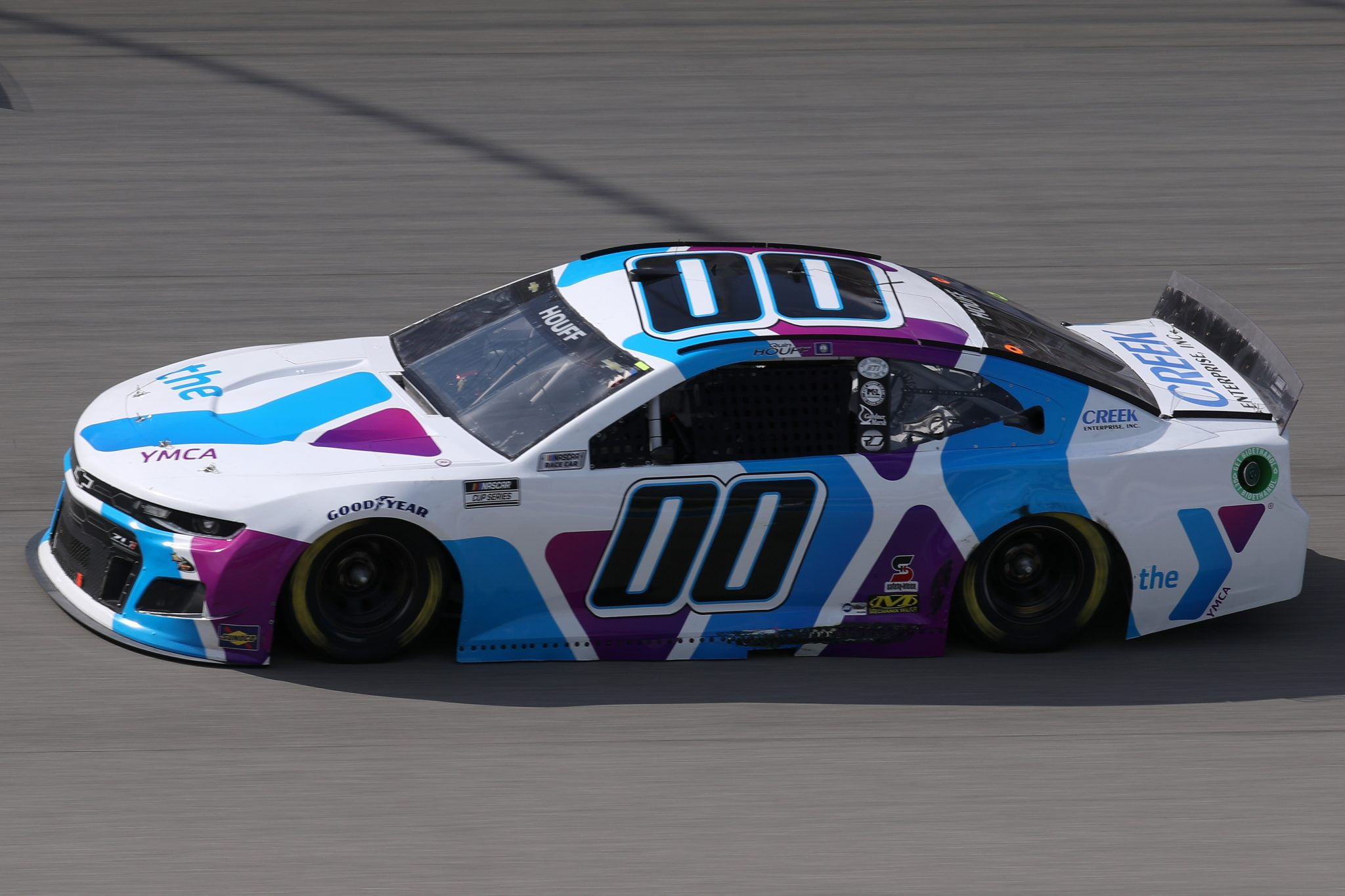 BROOKLYN, MICHIGAN - AUGUST 22: Quin Houff, driver of the #00 YMCA/CREEK Chevrolet, drives during the NASCAR Cup Series FireKeepers Casino 400 at Michigan International Speedway on August 22, 2021 in Brooklyn, Michigan. (Photo by Sean Gardner/Getty Images)   Getty Images