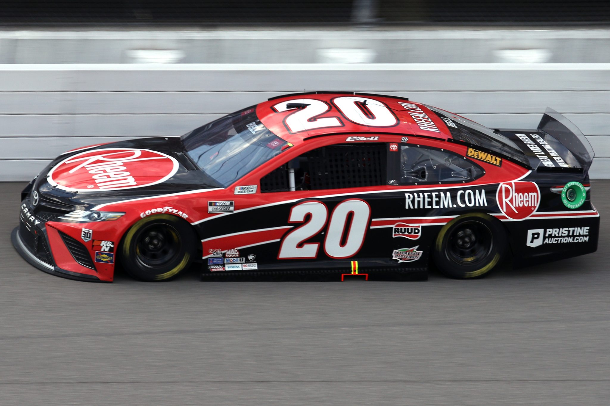 BROOKLYN, MICHIGAN - AUGUST 22: Christopher Bell, driver of the #20 Rheem Toyota, drives during the NASCAR Cup Series FireKeepers Casino 400 at Michigan International Speedway on August 22, 2021 in Brooklyn, Michigan. (Photo by Sean Gardner/Getty Images) | Getty Images