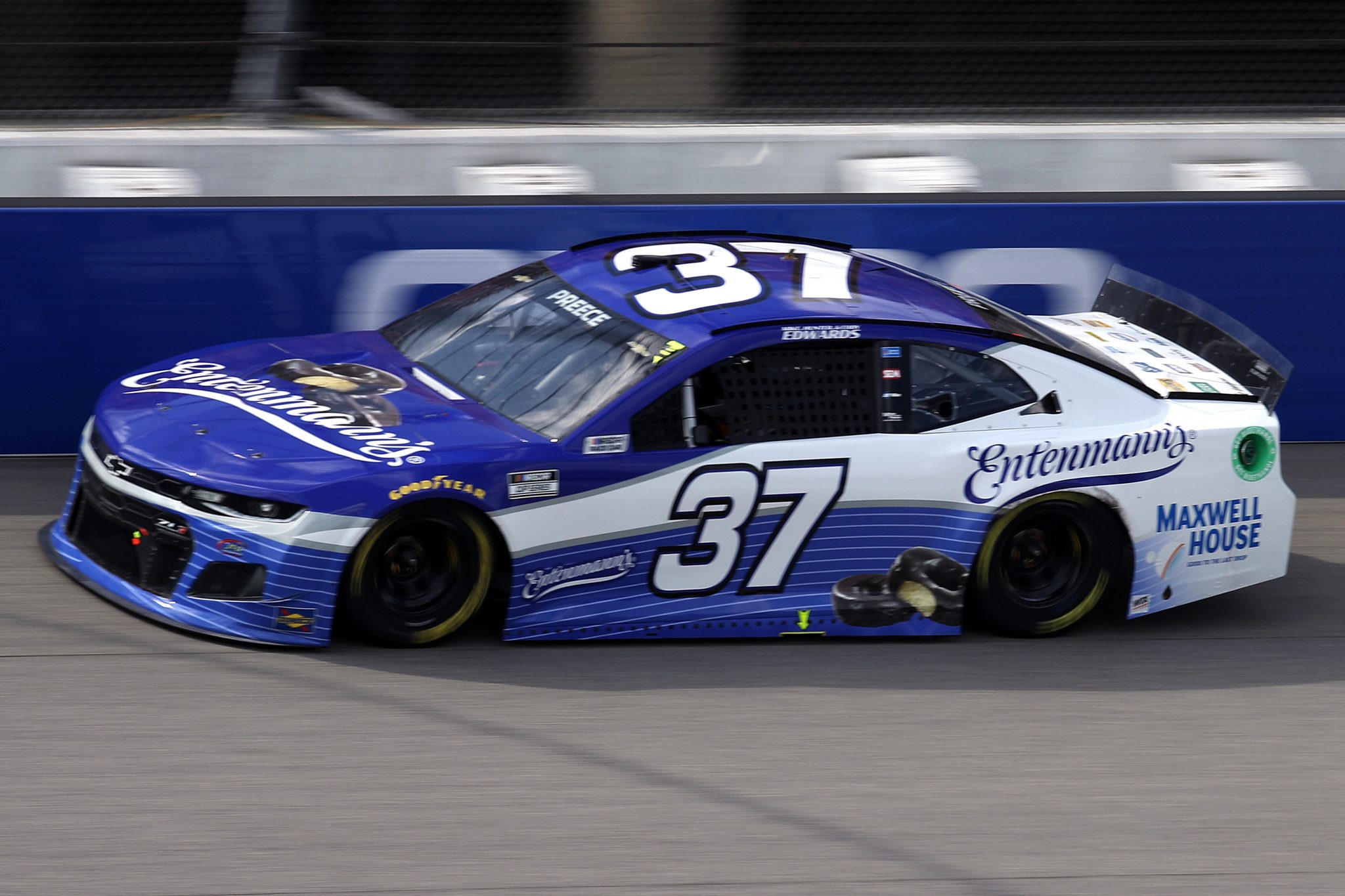 BROOKLYN, MICHIGAN - AUGUST 22: Ryan Preece, driver of the #37 Entenmann's Chevrolet, drives during the NASCAR Cup Series FireKeepers Casino 400 at Michigan International Speedway on August 22, 2021 in Brooklyn, Michigan. (Photo by Sean Gardner/Getty Images) | Getty Images