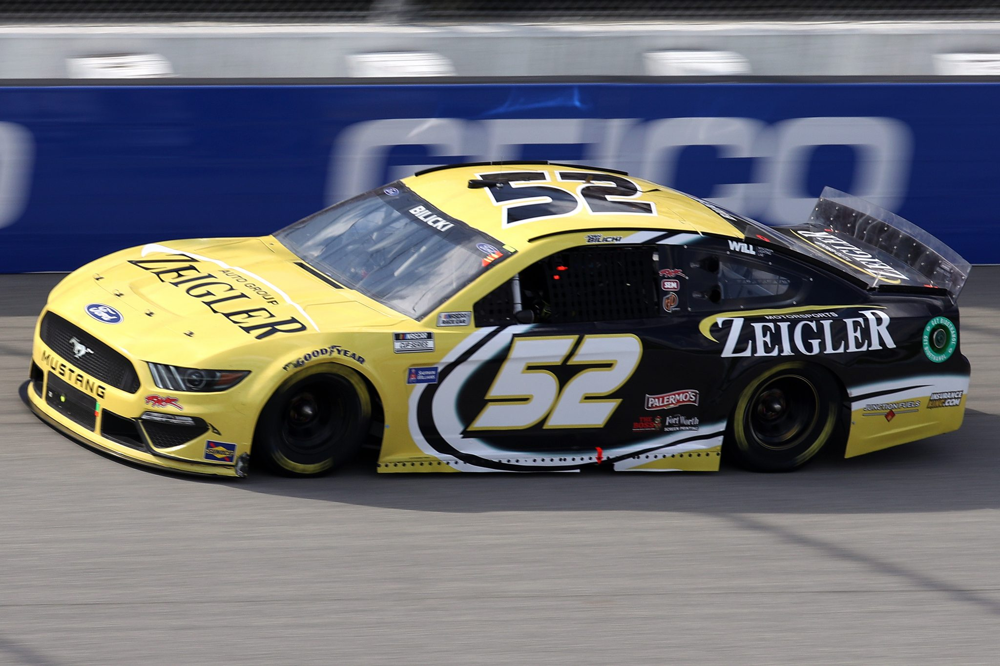 BROOKLYN, MICHIGAN - AUGUST 22: Josh Bilicki, driver of the #52 Zeigler Auto Group Ford, drives during the NASCAR Cup Series FireKeepers Casino 400 at Michigan International Speedway on August 22, 2021 in Brooklyn, Michigan. (Photo by Sean Gardner/Getty Images)   Getty Images