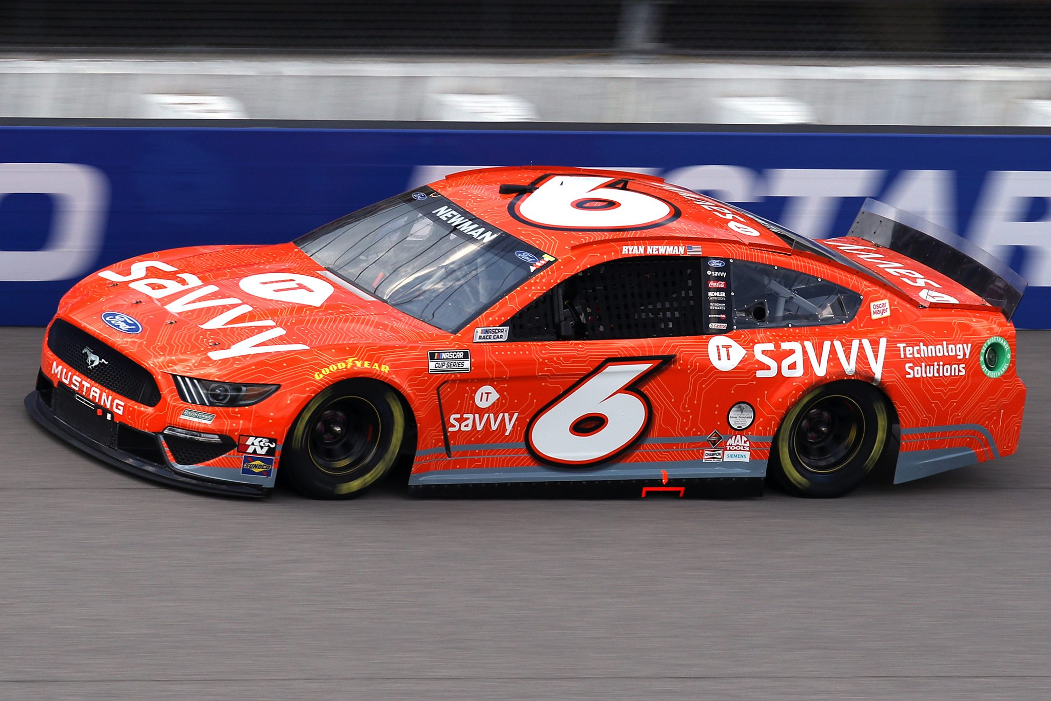 BROOKLYN, MICHIGAN - AUGUST 22: Ryan Newman, driver of the #6 ITsavvy Ford, drives during the NASCAR Cup Series FireKeepers Casino 400 at Michigan International Speedway on August 22, 2021 in Brooklyn, Michigan. (Photo by Sean Gardner/Getty Images) | Getty Images