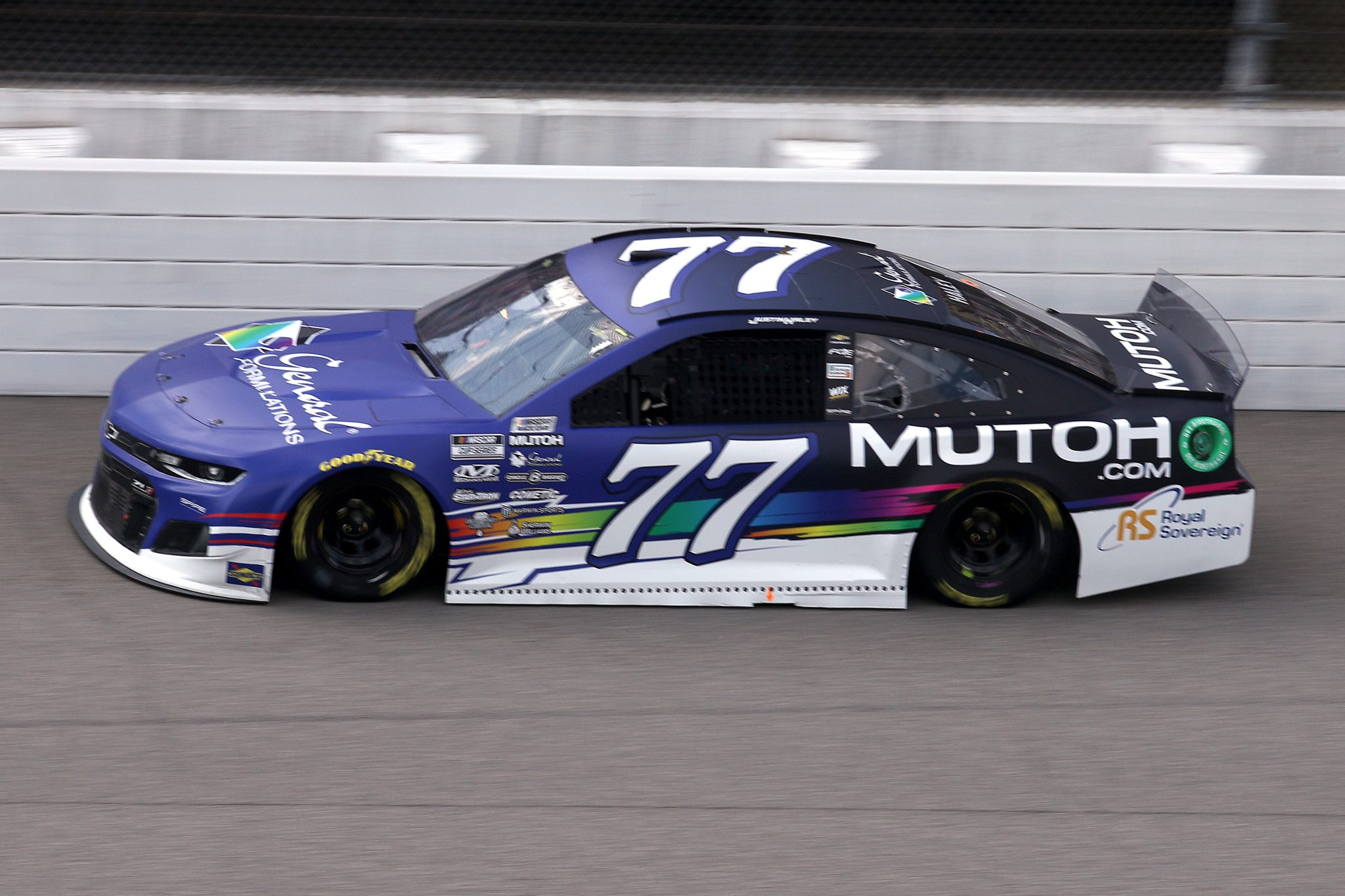 BROOKLYN, MICHIGAN - AUGUST 22: Justin Haley, driver of the #77 General Formulations/Mutoh Chevrolet, drives during the NASCAR Cup Series FireKeepers Casino 400 at Michigan International Speedway on August 22, 2021 in Brooklyn, Michigan. (Photo by Sean Gardner/Getty Images) | Getty Images