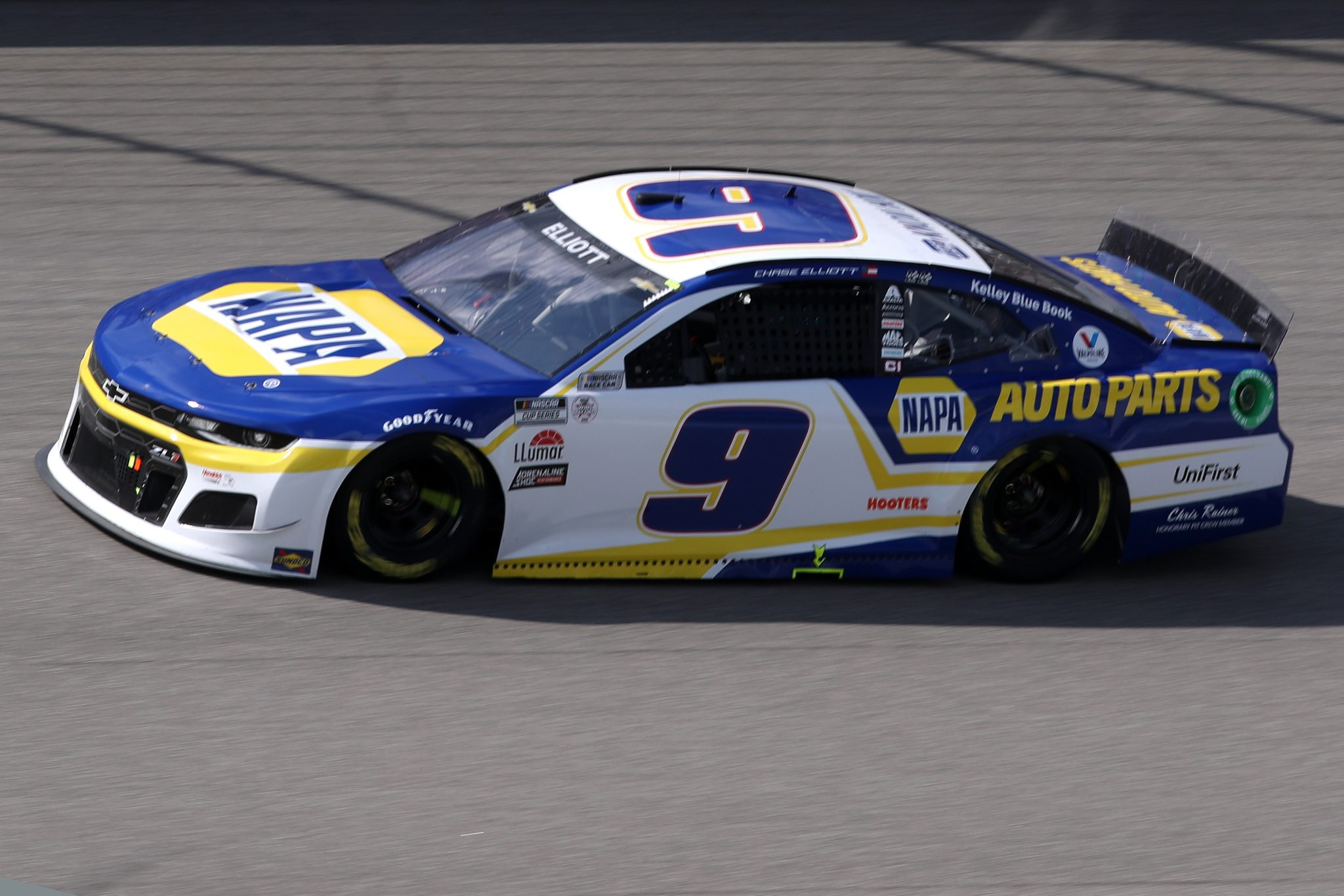BROOKLYN, MICHIGAN - AUGUST 22: Chase Elliott, driver of the #9 NAPA Auto Parts Chevrolet, drives during the NASCAR Cup Series FireKeepers Casino 400 at Michigan International Speedway on August 22, 2021 in Brooklyn, Michigan. (Photo by Sean Gardner/Getty Images)   Getty Images
