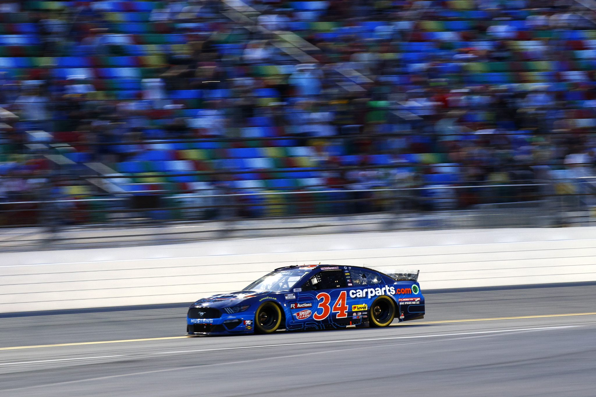 DAYTONA BEACH, FLORIDA - AUGUST 28: Michael McDowell, driver of the #34 CarParts.com Ford, drives during the NASCAR Cup Series Coke Zero Sugar 400 at Daytona International Speedway on August 28, 2021 in Daytona Beach, Florida. (Photo by Jared C. Tilton/Getty Images) | Getty Images