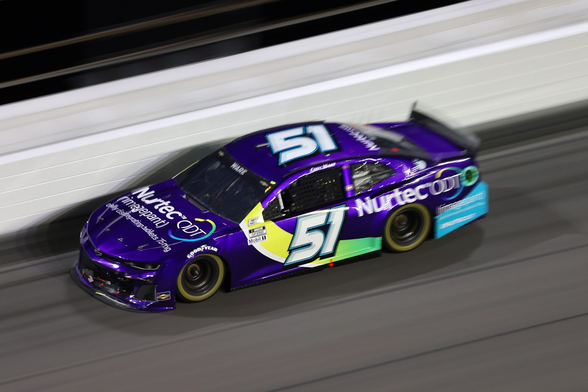 DAYTONA BEACH, FLORIDA - AUGUST 28: Cody Ware, driver of the #51 Nurtec ODT Chevrolet, drives during the NASCAR Cup Series Coke Zero Sugar 400 at Daytona International Speedway on August 28, 2021 in Daytona Beach, Florida. (Photo by James Gilbert/Getty Images) | Getty Images