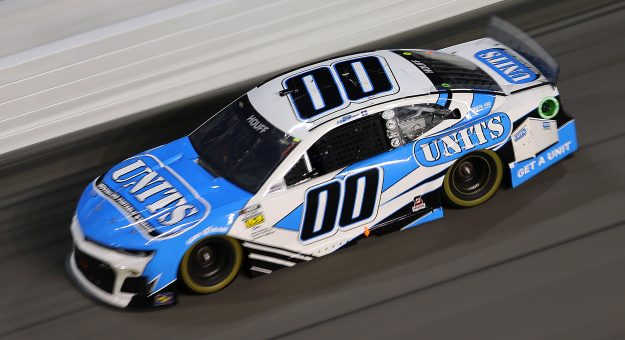 DAYTONA BEACH, FLORIDA - AUGUST 28: Quin Houff, driver of the #00 UNITIS Chevrolet, drives during the NASCAR Cup Series Coke Zero Sugar 400 at Daytona International Speedway on August 28, 2021 in Daytona Beach, Florida. (Photo by James Gilbert/Getty Images)   Getty Images