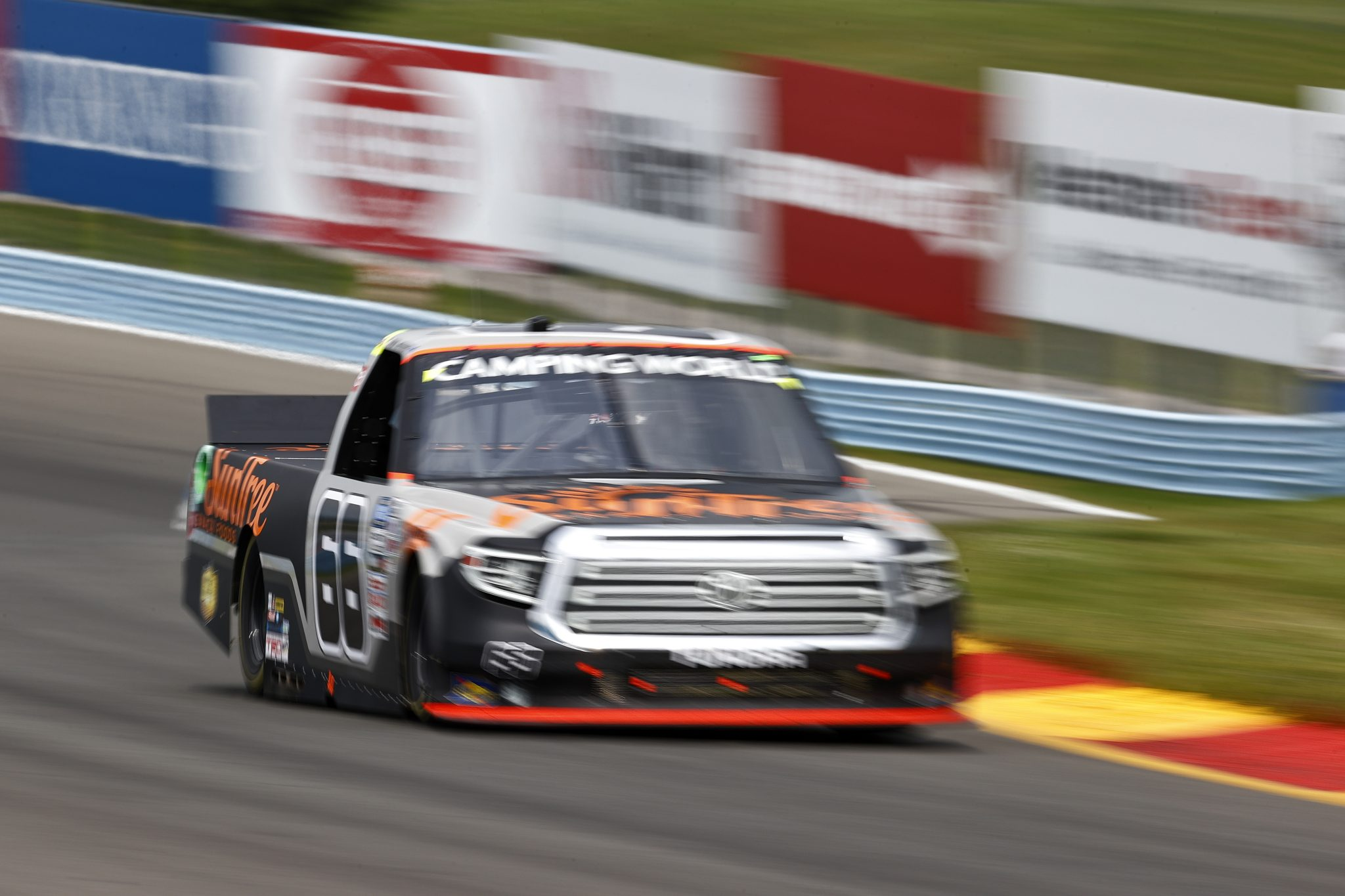 WATKINS GLEN, NEW YORK - AUGUST 07: Paul Menard, driver of the #66 SunTree Snack Foods Toyota, drives during the NASCAR Camping World Truck Series United Rentals 176 at Watkins Glen International on August 07, 2021 in Watkins Glen, New York. (Photo by Jared C. Tilton/Getty Images)   Getty Images