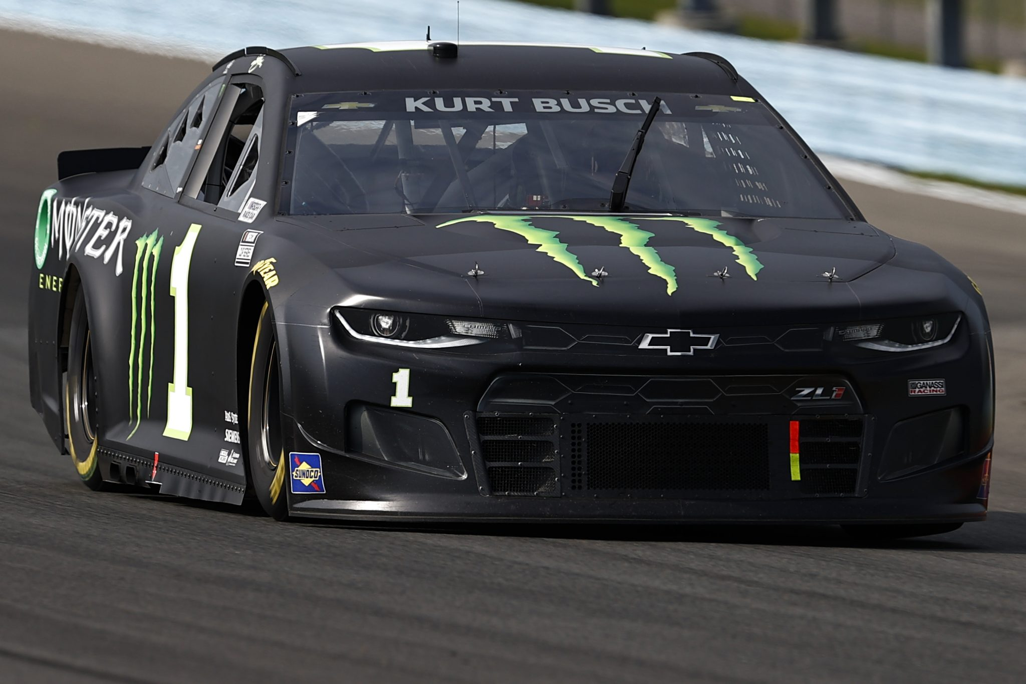 WATKINS GLEN, NEW YORK - AUGUST 08: Kurt Busch, driver of the #1 Monster Energy Chevrolet, drives during the NASCAR Cup Series Go Bowling at The Glen at Watkins Glen International on August 08, 2021 in Watkins Glen, New York. (Photo by Jared C. Tilton/Getty Images) | Getty Images