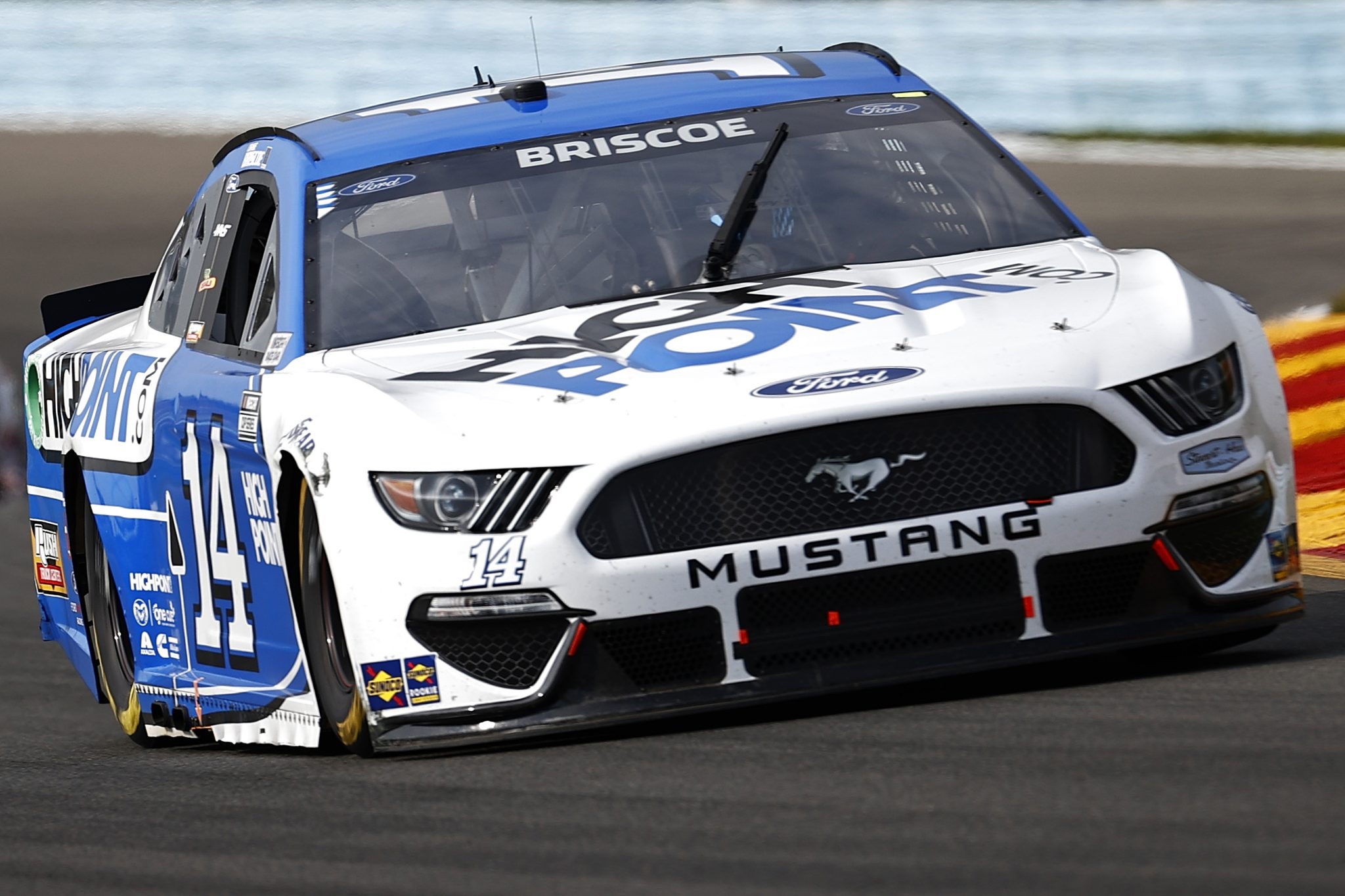WATKINS GLEN, NEW YORK - AUGUST 08: Chase Briscoe, driver of the #14 HighPoint.com Ford, drives during the NASCAR Cup Series Go Bowling at The Glen at Watkins Glen International on August 08, 2021 in Watkins Glen, New York. (Photo by Jared C. Tilton/Getty Images)   Getty Images