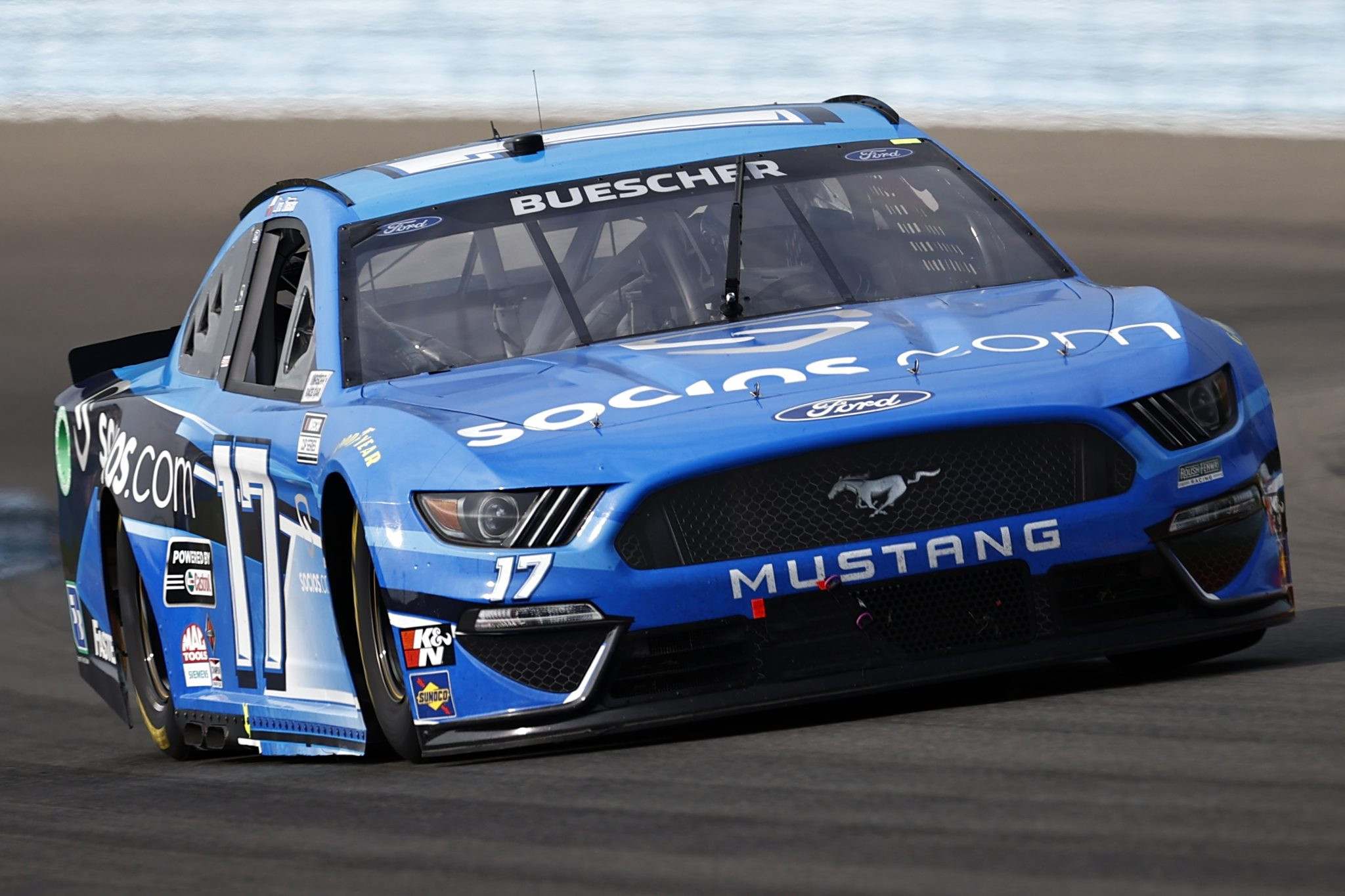 WATKINS GLEN, NEW YORK - AUGUST 08: Chris Buescher, driver of the #17 Ford, drives during the NASCAR Cup Series Go Bowling at The Glen at Watkins Glen International on August 08, 2021 in Watkins Glen, New York. (Photo by Jared C. Tilton/Getty Images) | Getty Images