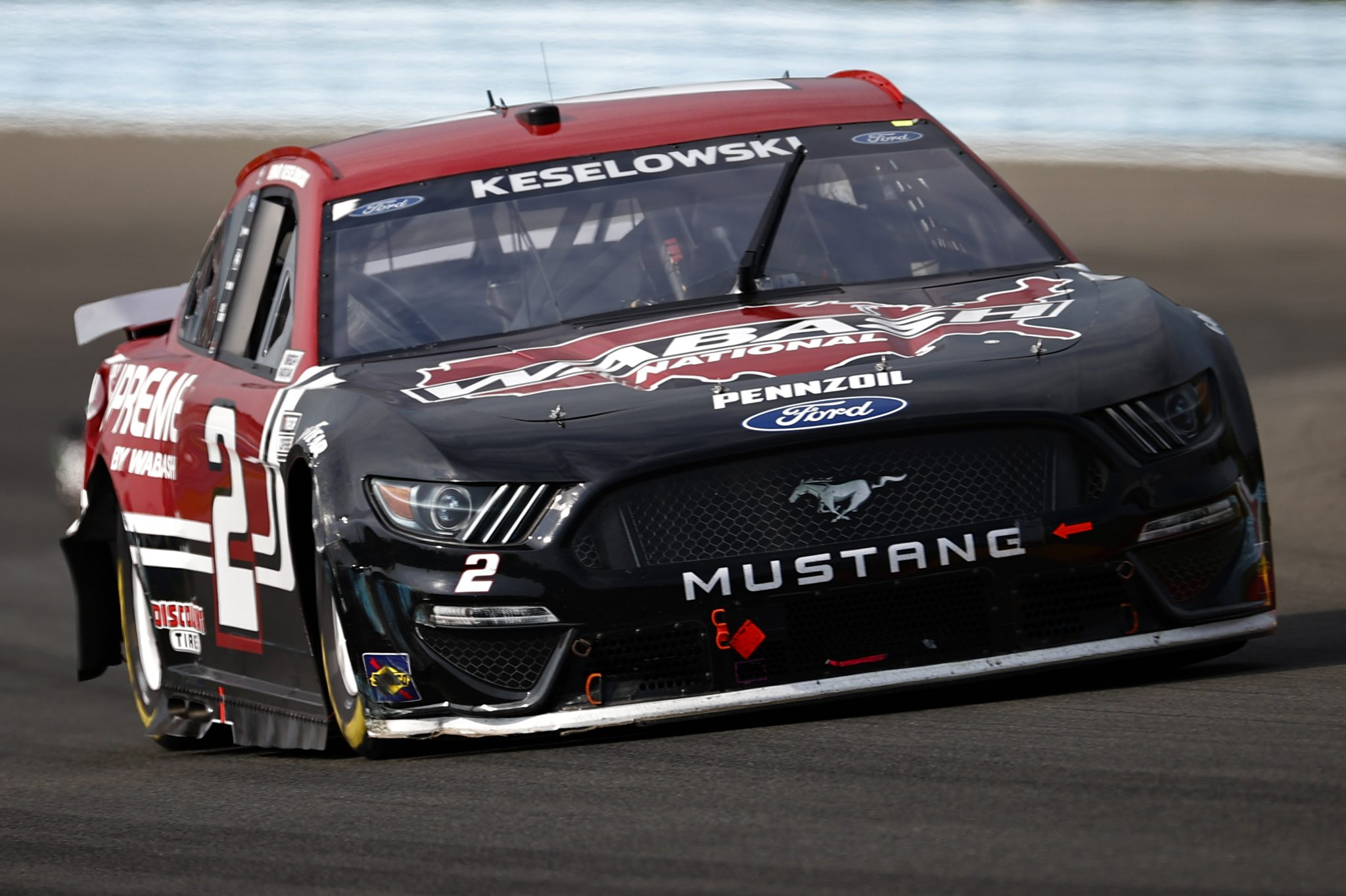 WATKINS GLEN, NEW YORK - AUGUST 08: Brad Keselowski, driver of the #2 Wabash National Ford, drives during the NASCAR Cup Series Go Bowling at The Glen at Watkins Glen International on August 08, 2021 in Watkins Glen, New York. (Photo by Jared C. Tilton/Getty Images)   Getty Images