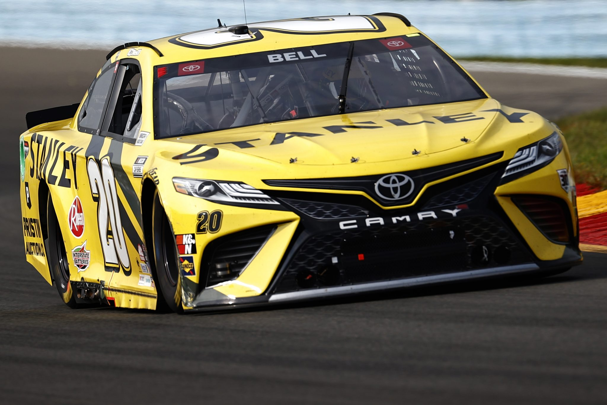 WATKINS GLEN, NEW YORK - AUGUST 08: Christopher Bell, driver of the #20 STANLEY Toyota, drives during the NASCAR Cup Series Go Bowling at The Glen at Watkins Glen International on August 08, 2021 in Watkins Glen, New York. (Photo by Jared C. Tilton/Getty Images) | Getty Images