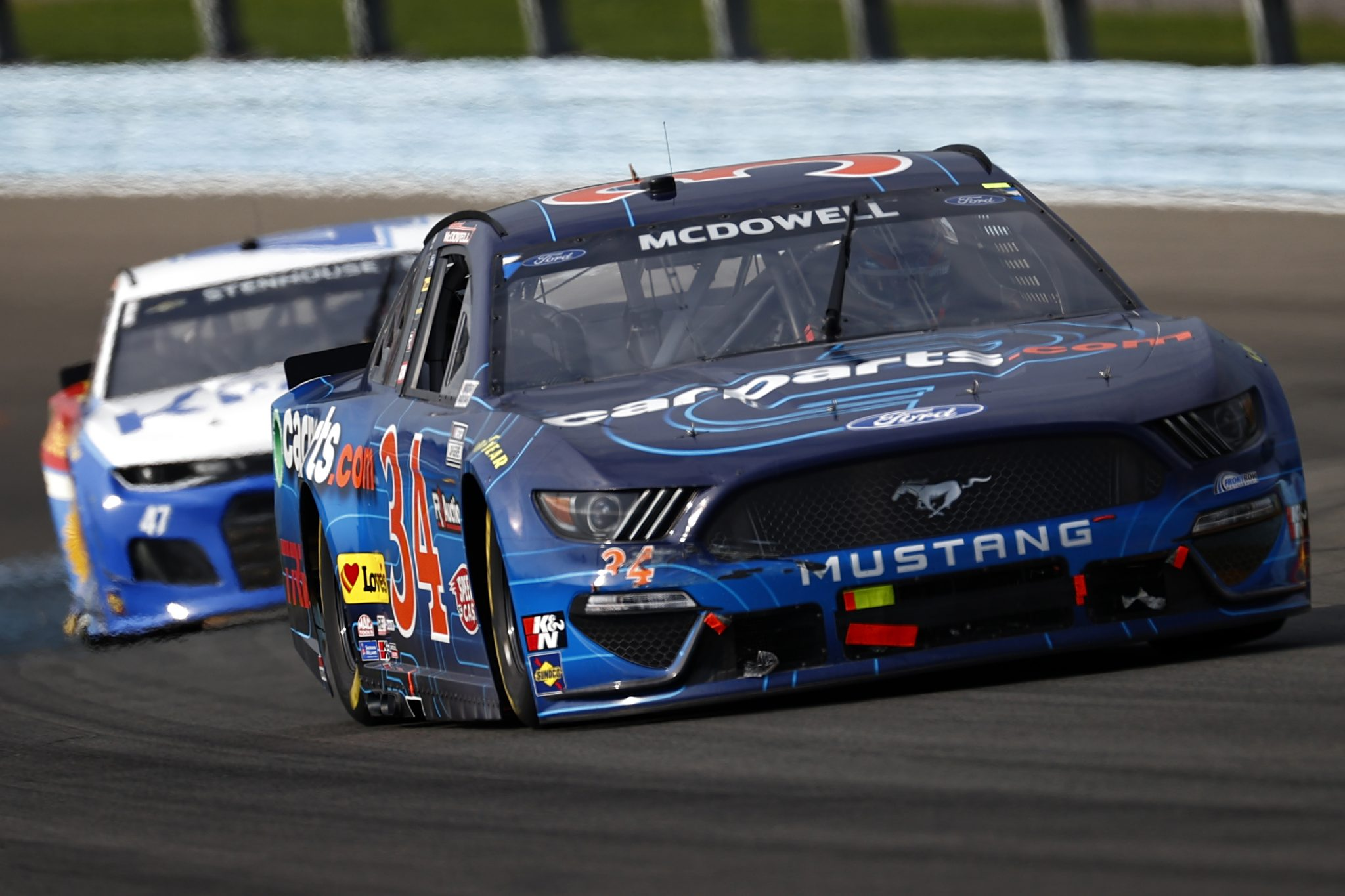 WATKINS GLEN, NEW YORK - AUGUST 08: Michael McDowell, driver of the #34 CarParts.com Ford, drives during the NASCAR Cup Series Go Bowling at The Glen at Watkins Glen International on August 08, 2021 in Watkins Glen, New York. (Photo by Jared C. Tilton/Getty Images) | Getty Images
