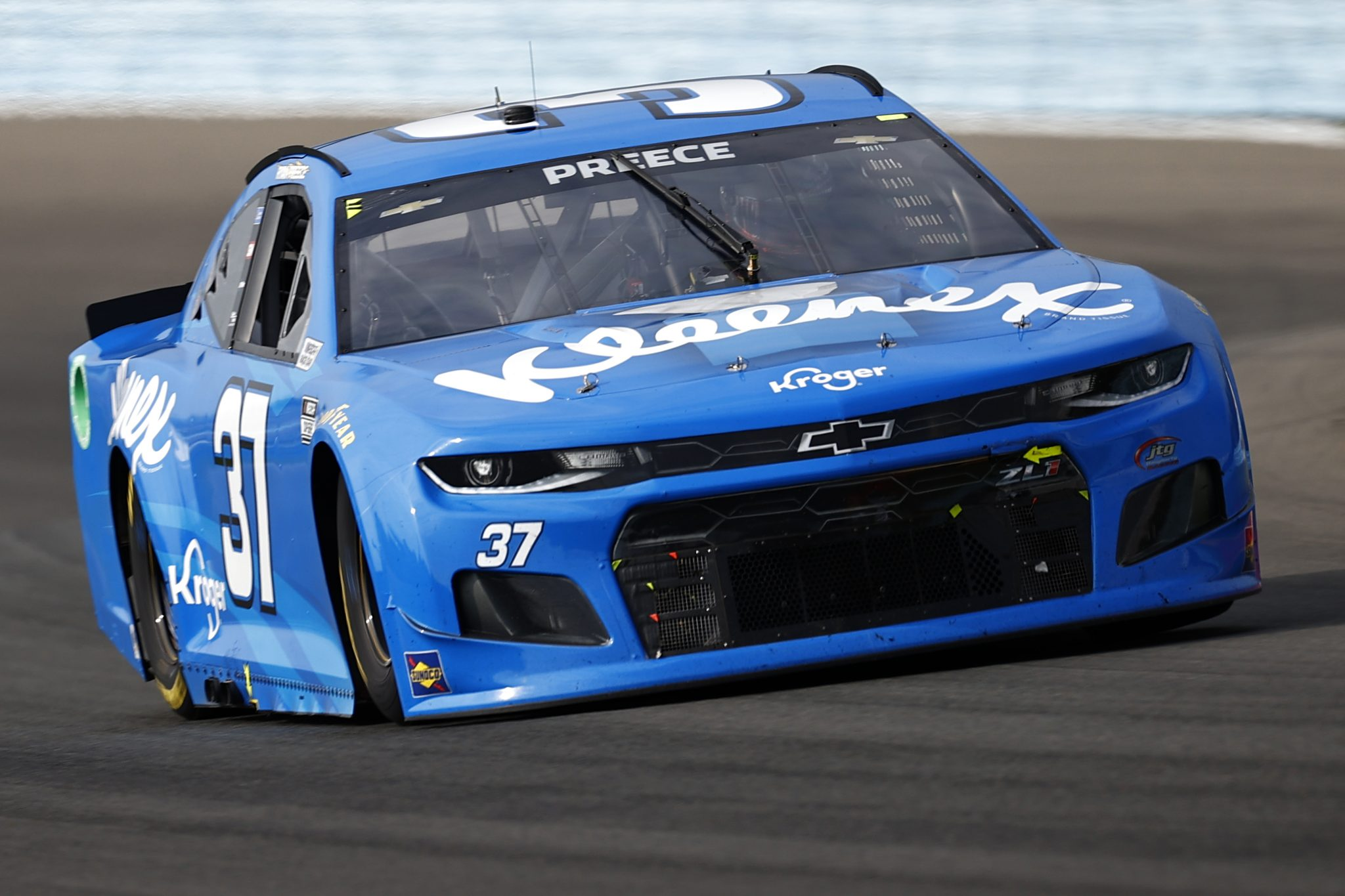 WATKINS GLEN, NEW YORK - AUGUST 08: Ryan Preece, driver of the #37 Kleenex Chevrolet, drives during the NASCAR Cup Series Go Bowling at The Glen at Watkins Glen International on August 08, 2021 in Watkins Glen, New York. (Photo by Jared C. Tilton/Getty Images) | Getty Images