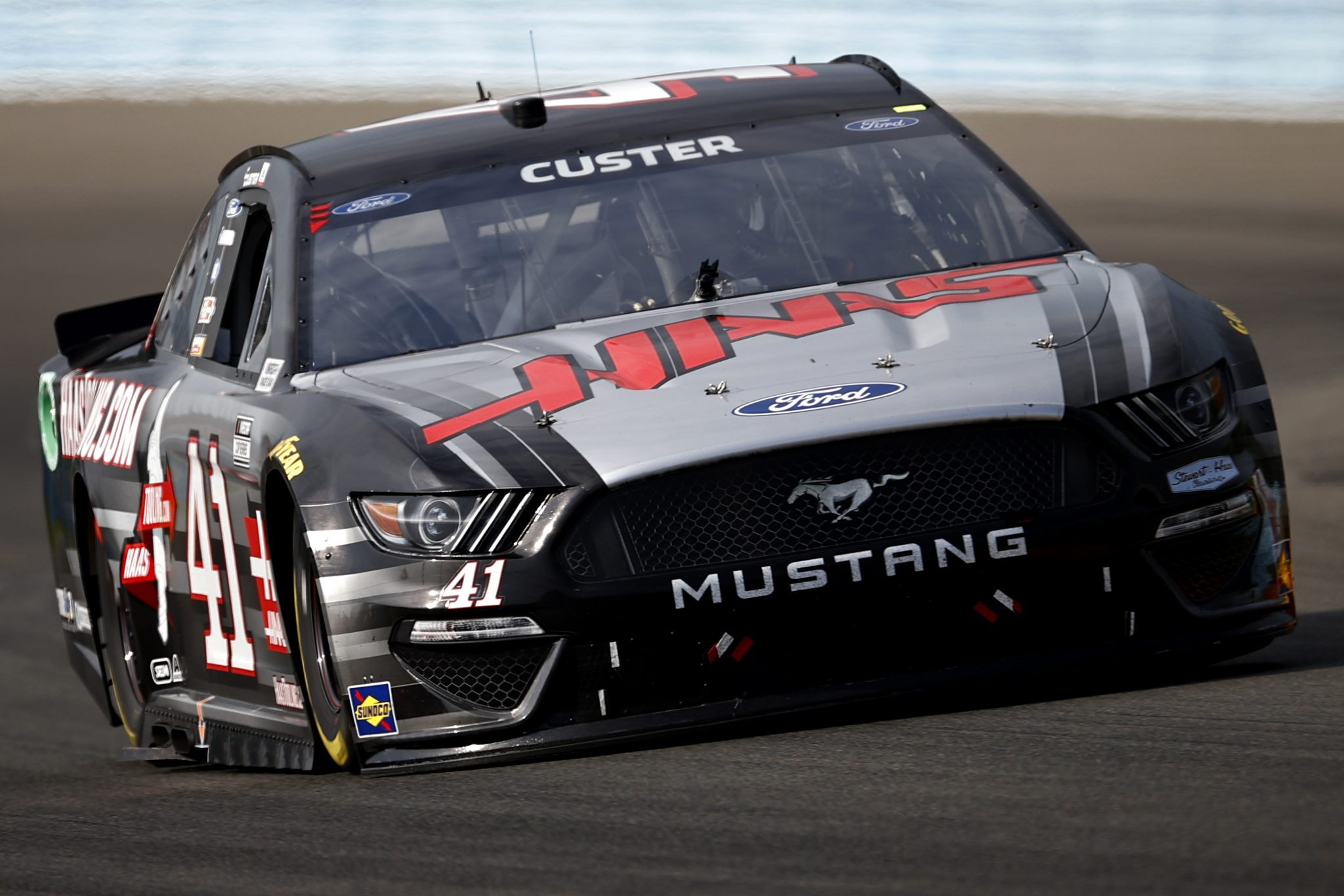 WATKINS GLEN, NEW YORK - AUGUST 08: Cole Custer, driver of the #41 HaasTooling.com Ford, drives during the NASCAR Cup Series Go Bowling at The Glen at Watkins Glen International on August 08, 2021 in Watkins Glen, New York. (Photo by Jared C. Tilton/Getty Images) | Getty Images