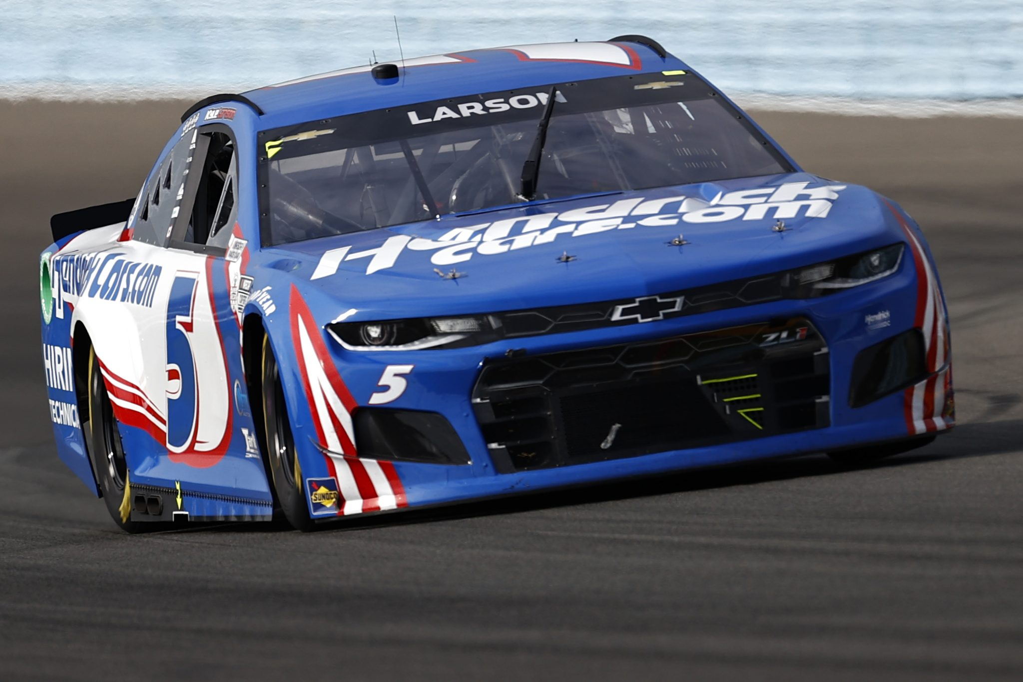 WATKINS GLEN, NEW YORK - AUGUST 08: Kyle Larson, driver of the #5 HendrickCars.com Chevrolet, drives during the NASCAR Cup Series Go Bowling at The Glen at Watkins Glen International on August 08, 2021 in Watkins Glen, New York. (Photo by Jared C. Tilton/Getty Images) | Getty Images
