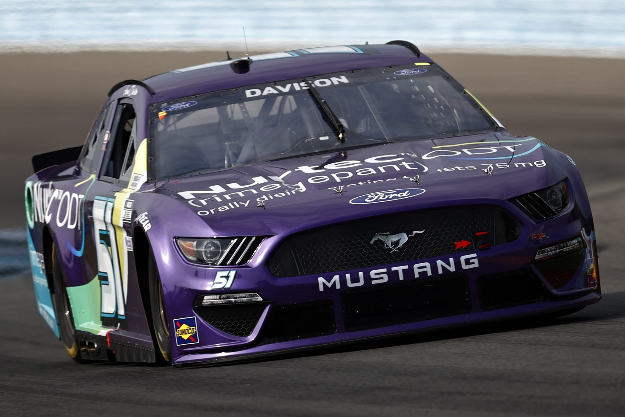 WATKINS GLEN, NEW YORK - AUGUST 08: James Davison, driver of the #51 Nurtec ODT Chevrolet, drives during the NASCAR Cup Series Go Bowling at The Glen at Watkins Glen International on August 08, 2021 in Watkins Glen, New York. (Photo by Jared C. Tilton/Getty Images) | Getty Images