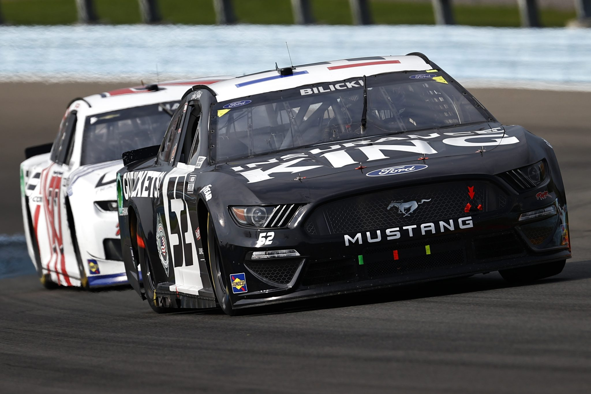 WATKINS GLEN, NEW YORK - AUGUST 08: Josh Bilicki, driver of the #52 Ford, drives during the NASCAR Cup Series Go Bowling at The Glen at Watkins Glen International on August 08, 2021 in Watkins Glen, New York. (Photo by Jared C. Tilton/Getty Images)   Getty Images