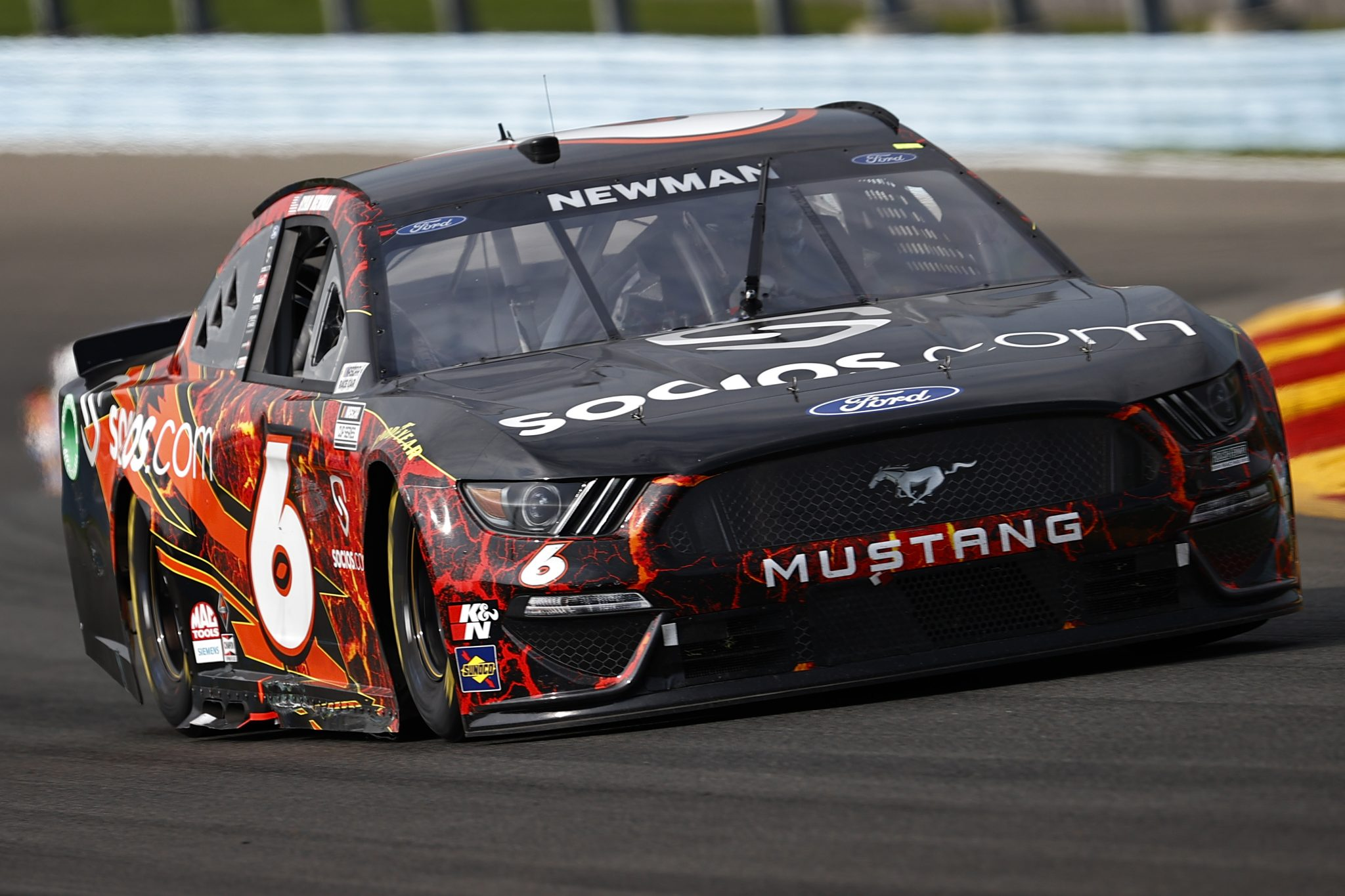 WATKINS GLEN, NEW YORK - AUGUST 08: Ryan Newman, driver of the #6 Ford, drives during the NASCAR Cup Series Go Bowling at The Glen at Watkins Glen International on August 08, 2021 in Watkins Glen, New York. (Photo by Jared C. Tilton/Getty Images) | Getty Images