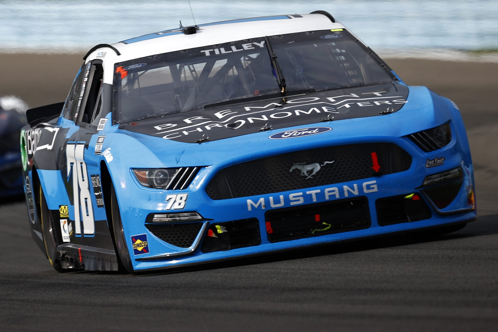 WATKINS GLEN, NEW YORK - AUGUST 08: Kyle Tilley, driver of the #78 Bremont Chronometers Ford, drives during the NASCAR Cup Series Go Bowling at The Glen at Watkins Glen International on August 08, 2021 in Watkins Glen, New York. (Photo by Jared C. Tilton/Getty Images)   Getty Images