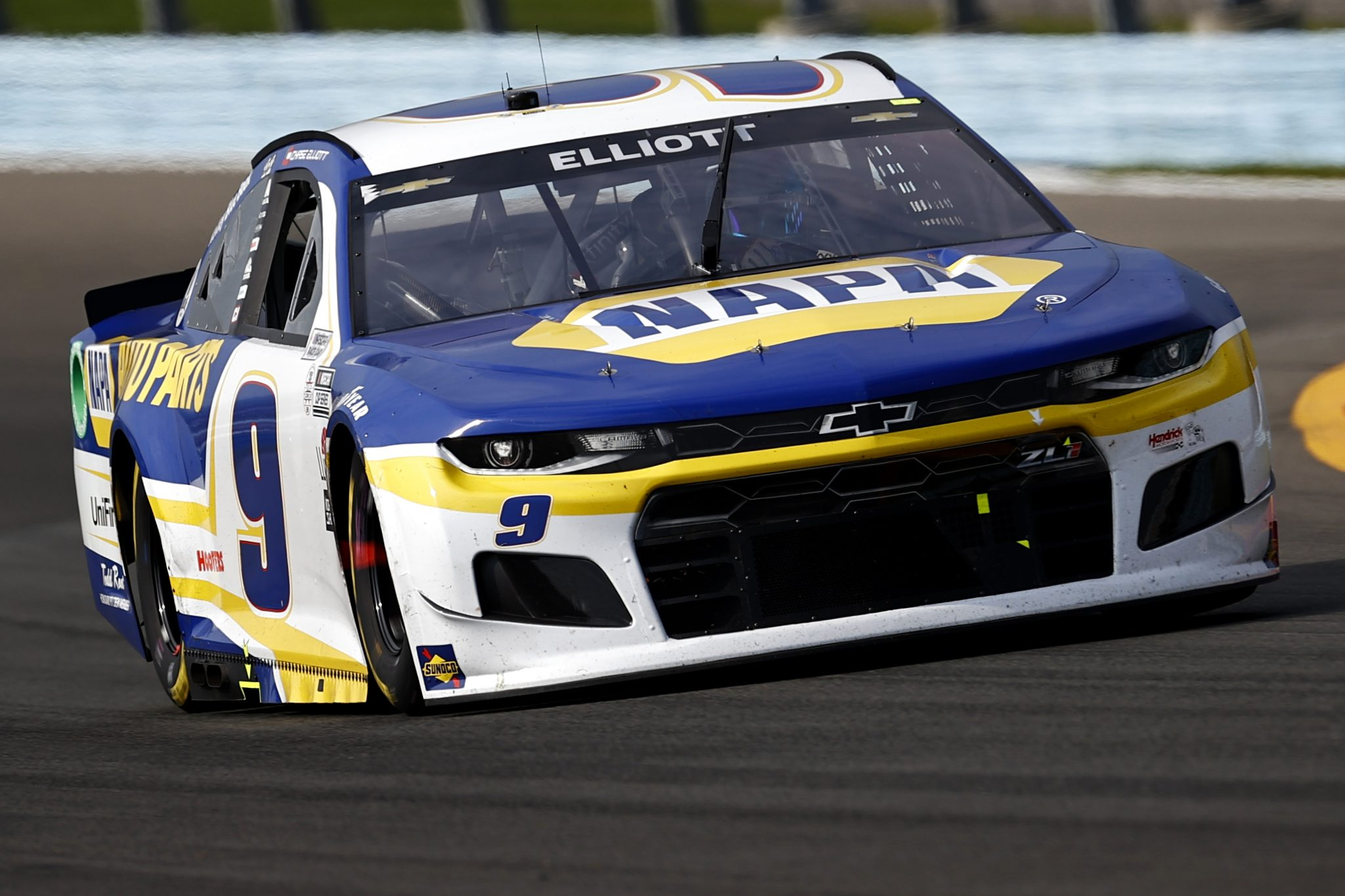 WATKINS GLEN, NEW YORK - AUGUST 08: Chase Elliott, driver of the #9 NAPA Auto Parts Chevrolet, drives during the NASCAR Cup Series Go Bowling at The Glen at Watkins Glen International on August 08, 2021 in Watkins Glen, New York. (Photo by Jared C. Tilton/Getty Images)   Getty Images