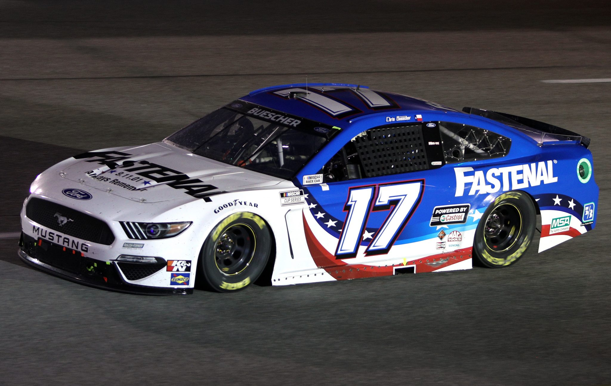 RICHMOND, VIRGINIA - SEPTEMBER 11: Chris Buescher, driver of the #17 Fastenal Ford, drives during the NASCAR Cup Series Federated Auto Parts 400 Salute to First Responders at Richmond Raceway on September 11, 2021 in Richmond, Virginia. (Photo by Sean Gardner/Getty Images) | Getty Images