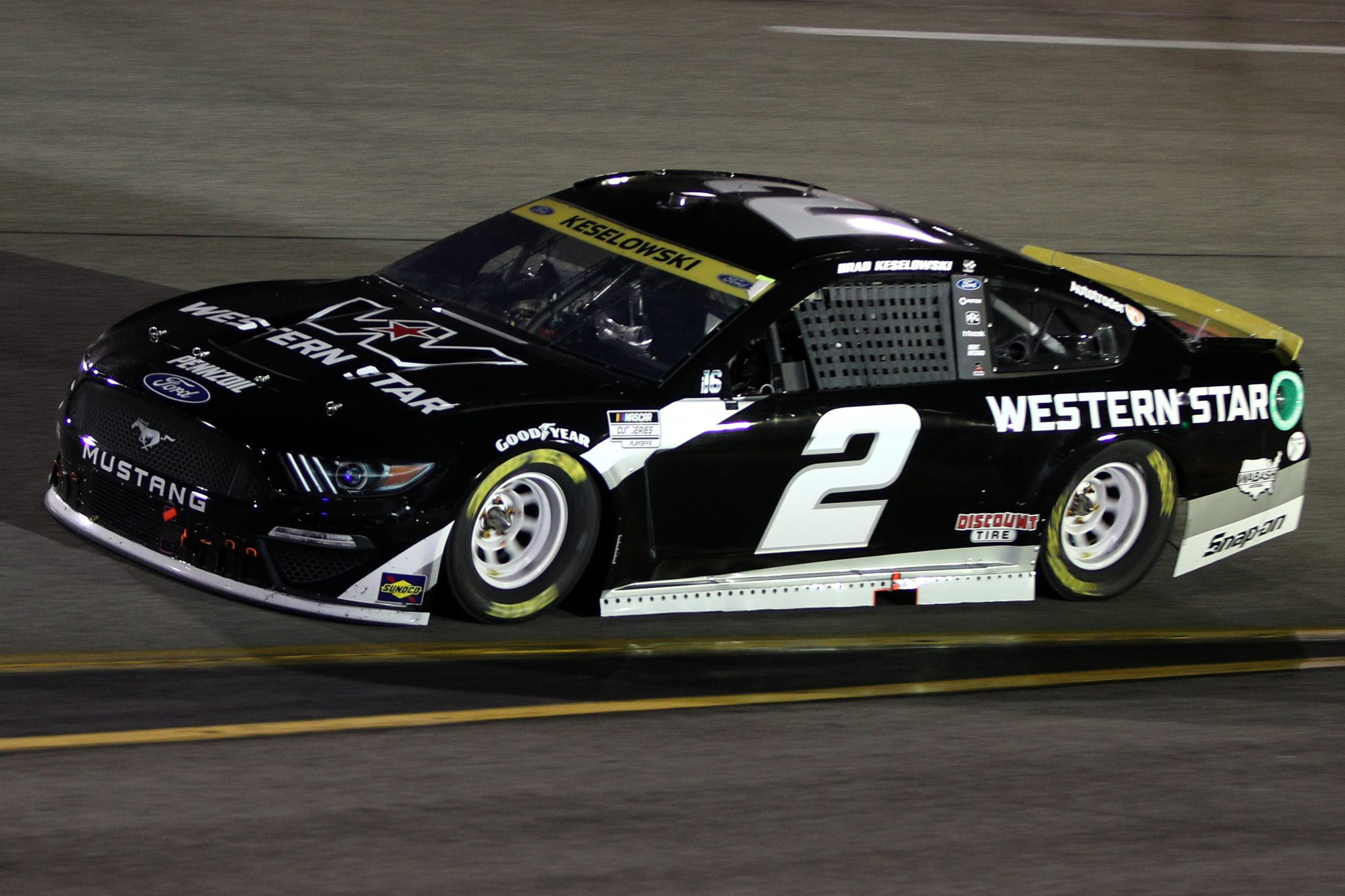 RICHMOND, VIRGINIA - SEPTEMBER 11: Brad Keselowski, driver of the #2 Western Star Ford, drives during the NASCAR Cup Series Federated Auto Parts 400 Salute to First Responders at Richmond Raceway on September 11, 2021 in Richmond, Virginia. (Photo by Sean Gardner/Getty Images)   Getty Images