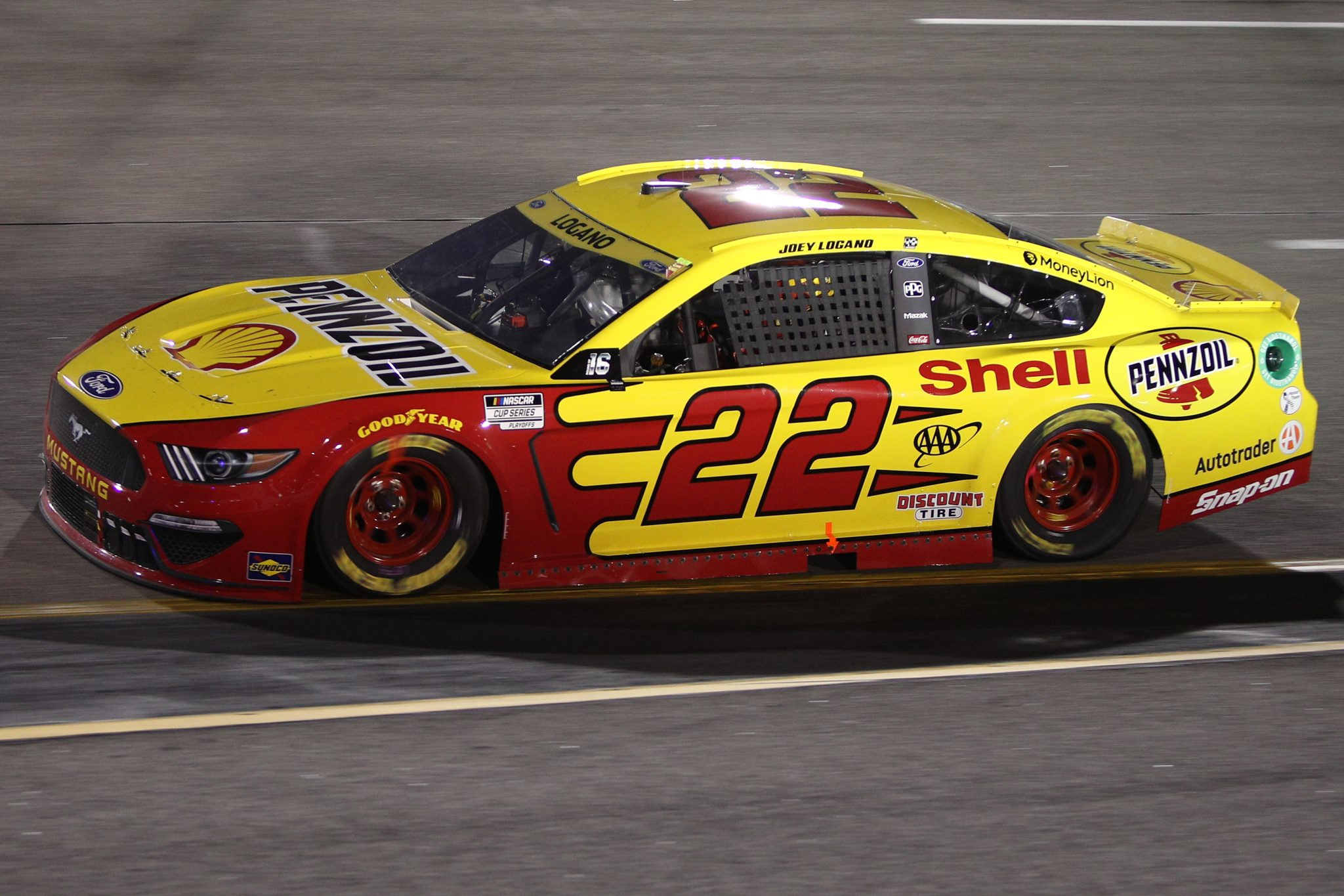 RICHMOND, VIRGINIA - SEPTEMBER 11: Joey Logano, driver of the #22 Shell Pennzoil Ford, drives during the NASCAR Cup Series Federated Auto Parts 400 Salute to First Responders at Richmond Raceway on September 11, 2021 in Richmond, Virginia. (Photo by Sean Gardner/Getty Images)   Getty Images