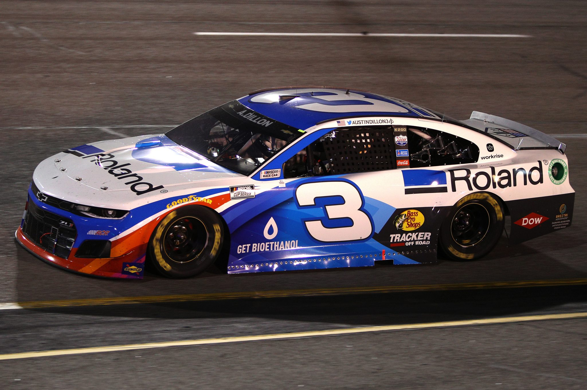 RICHMOND, VIRGINIA - SEPTEMBER 11: Austin Dillon, driver of the #3 Roland Chevrolet, drives during the NASCAR Cup Series Federated Auto Parts 400 Salute to First Responders at Richmond Raceway on September 11, 2021 in Richmond, Virginia. (Photo by Sean Gardner/Getty Images)   Getty Images
