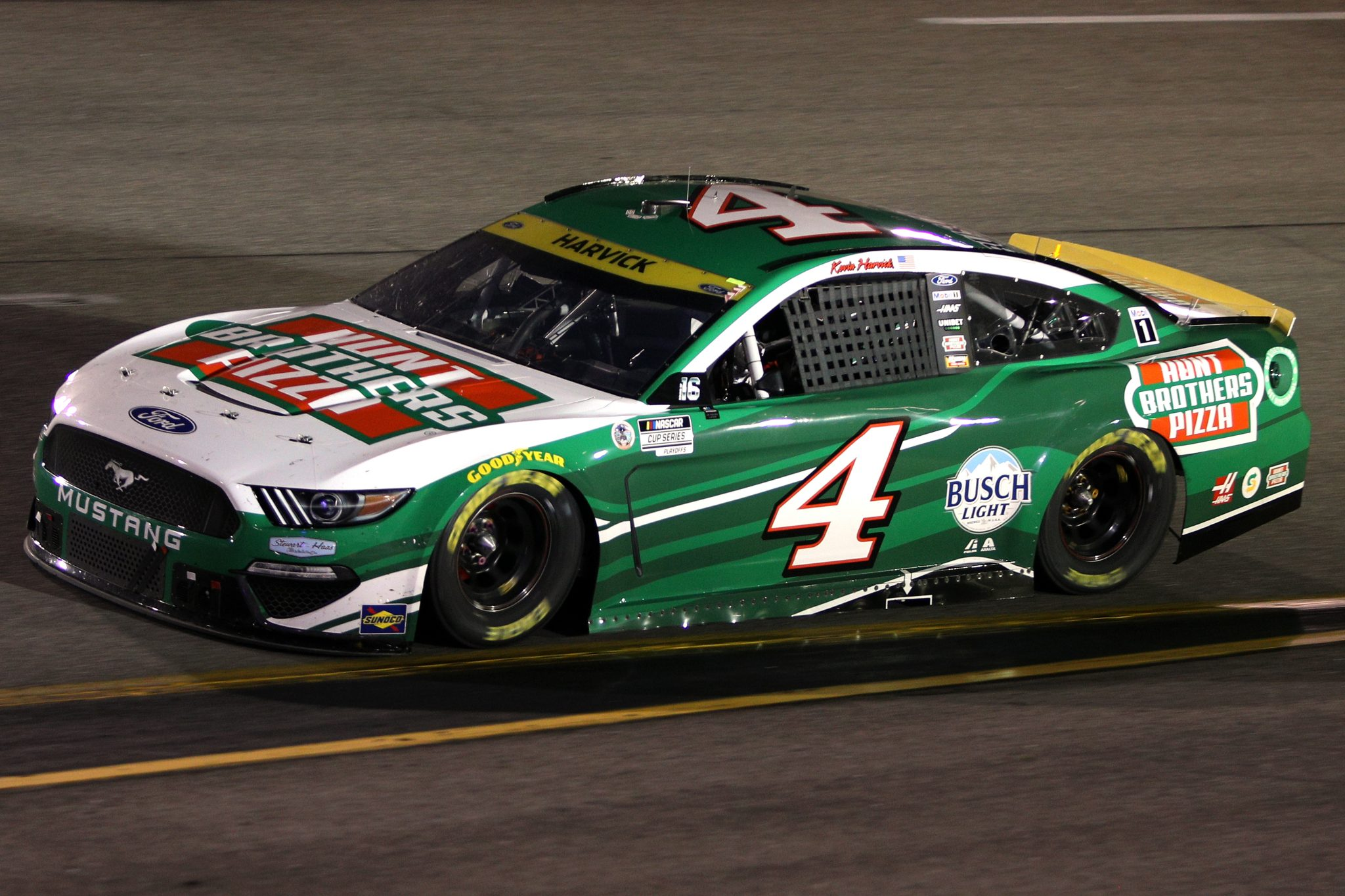 RICHMOND, VIRGINIA - SEPTEMBER 11: Kevin Harvick, driver of the #4 Hunt Brothers Pizza Ford, drives during the NASCAR Cup Series Federated Auto Parts 400 Salute to First Responders at Richmond Raceway on September 11, 2021 in Richmond, Virginia. (Photo by Sean Gardner/Getty Images)   Getty Images