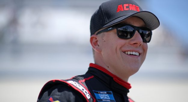 DOVER, DELAWARE - MAY 15: John H. Nemechek, driver of the #26 ACME Toyota, walks the grid during the NASCAR Xfinity Series Drydene 200 race at Dover International Speedway on May 15, 2021 in Dover, Delaware. (Photo by Sean Gardner/Getty Images) | Getty Images