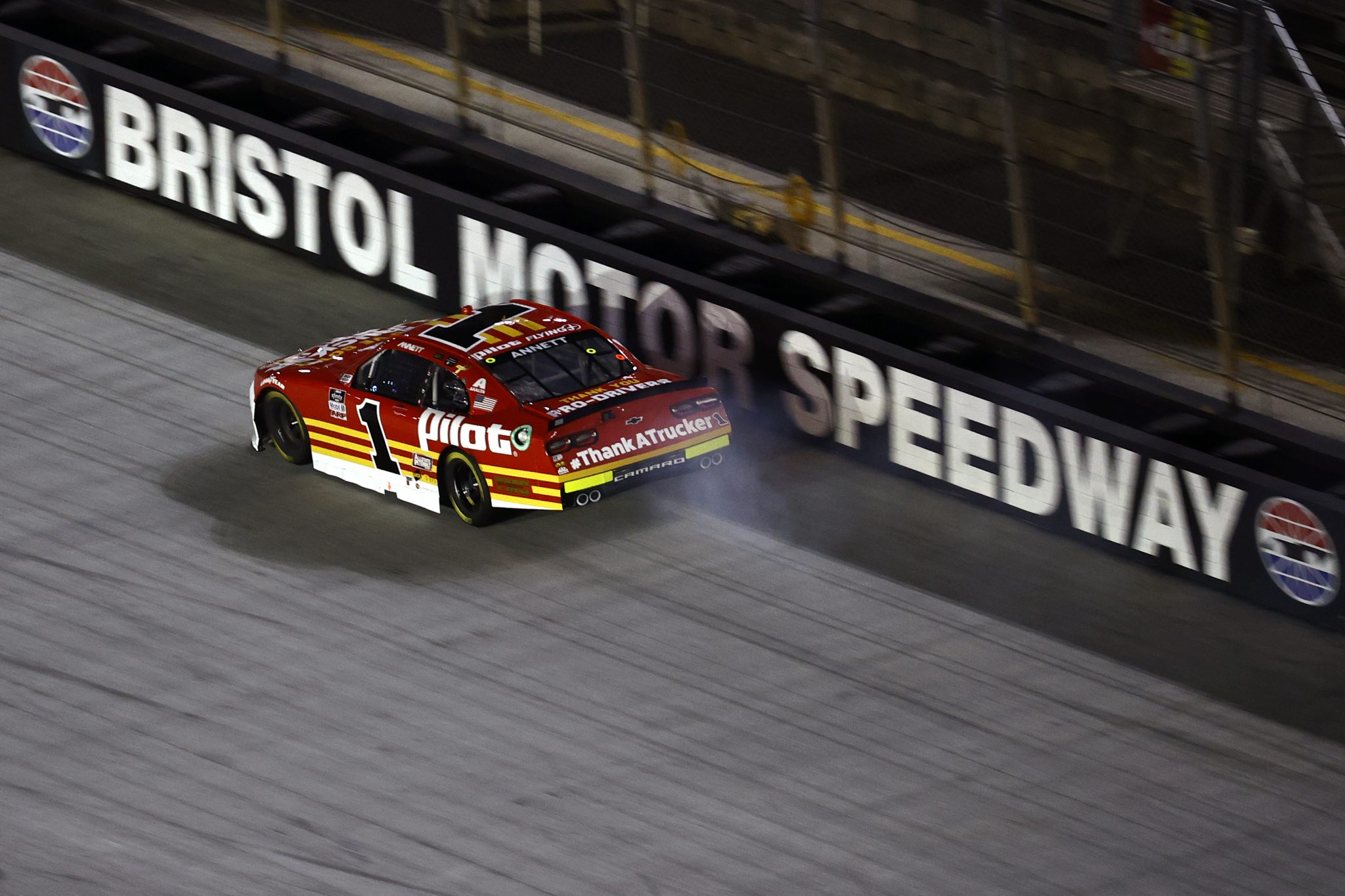 BRISTOL, TENNESSEE - SEPTEMBER 17: Josh Berry, driver of the #1 PFJ Thank A Trucker Chevrolet, drives during the NASCAR Xfinity Series Food City 300 at Bristol Motor Speedway on September 17, 2021 in Bristol, Tennessee. (Photo by Jared C. Tilton/Getty Images) | Getty Images