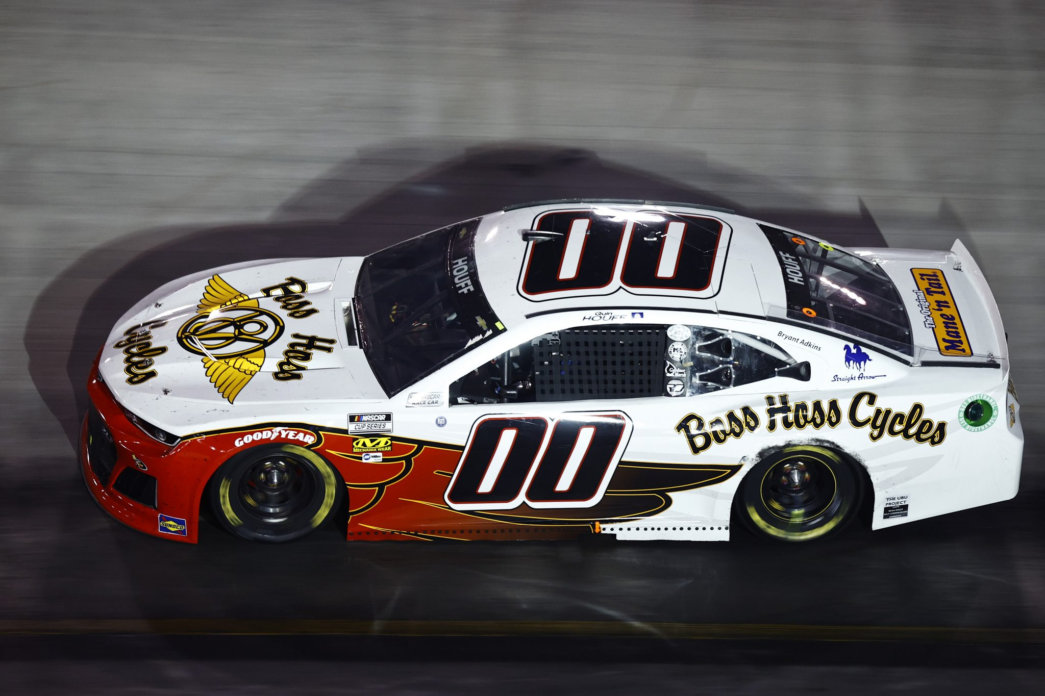 BRISTOL, TENNESSEE - SEPTEMBER 18: Quin Houff, driver of the #00 Boss Hoss Cycles Chevrolet, drives during the NASCAR Cup Series Bass Pro Shops Night Race at Bristol Motor Speedway on September 18, 2021 in Bristol, Tennessee. (Photo by Jared C. Tilton/Getty Images)   Getty Images