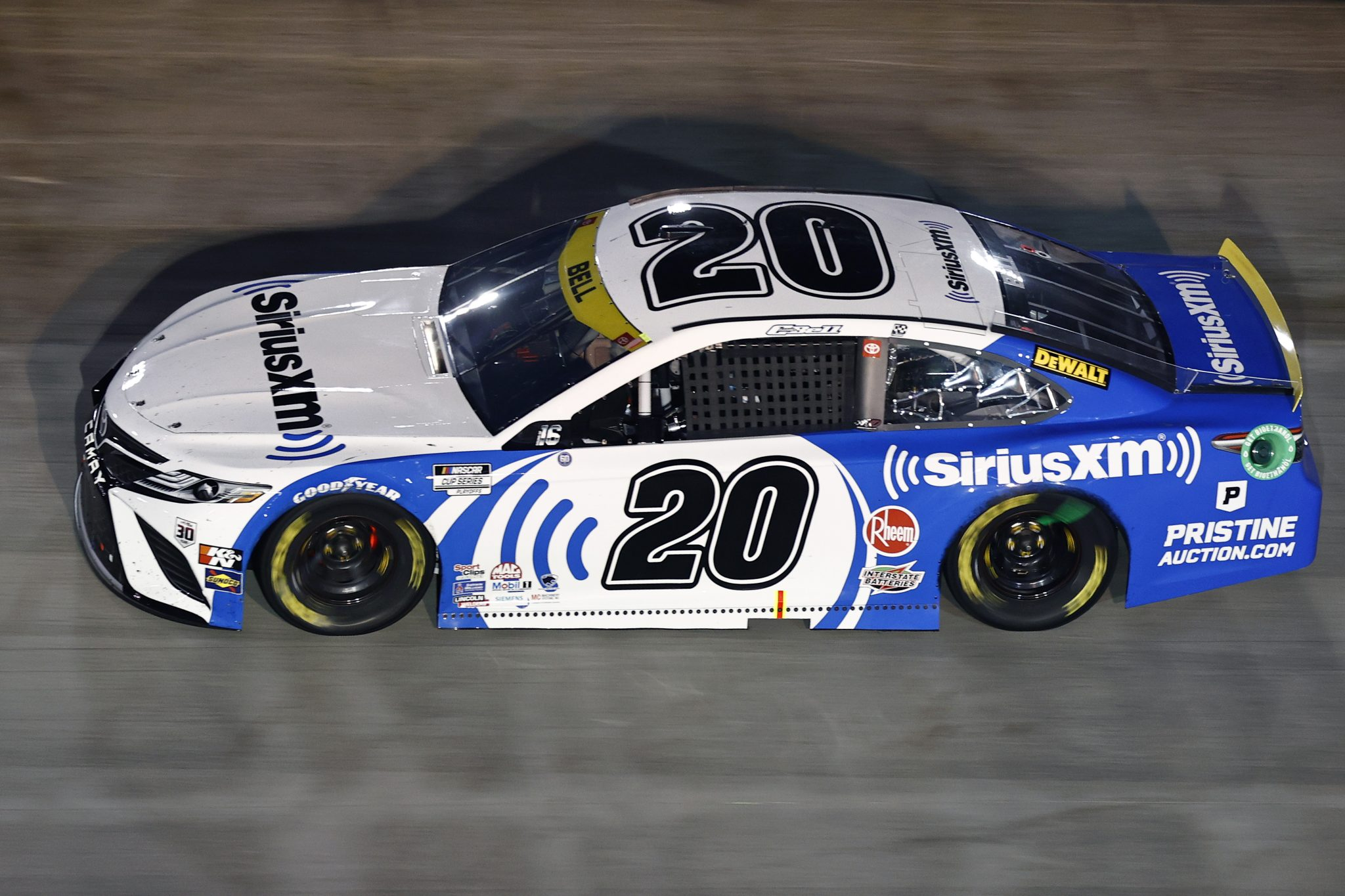 BRISTOL, TENNESSEE - SEPTEMBER 18: Christopher Bell, driver of the #20 SiriusXM Toyota, drives during the NASCAR Cup Series Bass Pro Shops Night Race at Bristol Motor Speedway on September 18, 2021 in Bristol, Tennessee. (Photo by Jared C. Tilton/Getty Images) | Getty Images
