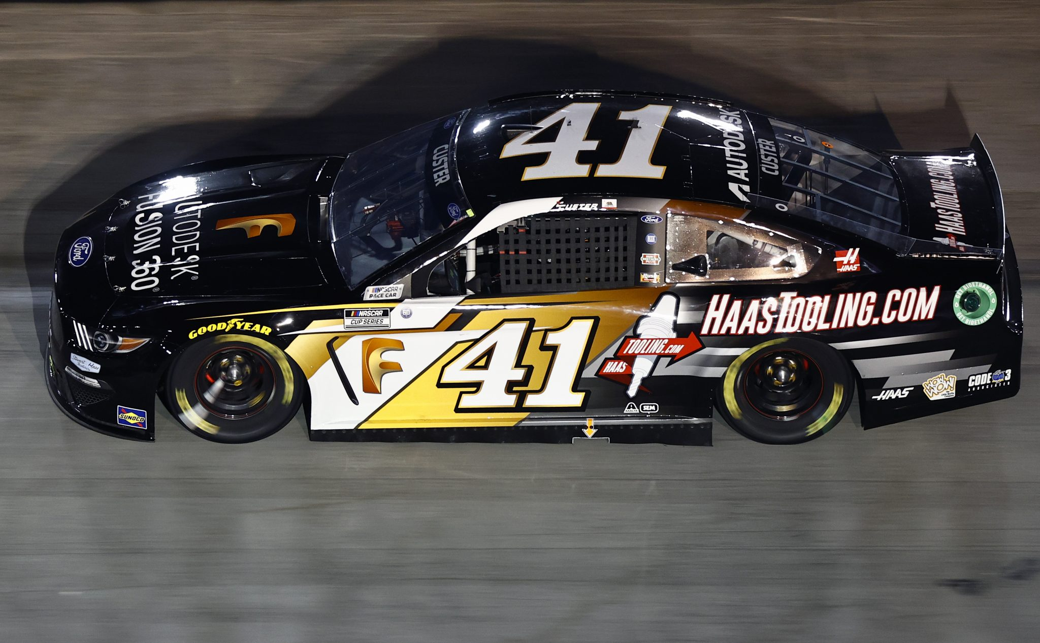 BRISTOL, TENNESSEE - SEPTEMBER 18: Cole Custer, driver of the #41 Autodesk/HaasTooling.com Ford, drives during the NASCAR Cup Series Bass Pro Shops Night Race at Bristol Motor Speedway on September 18, 2021 in Bristol, Tennessee. (Photo by Jared C. Tilton/Getty Images) | Getty Images