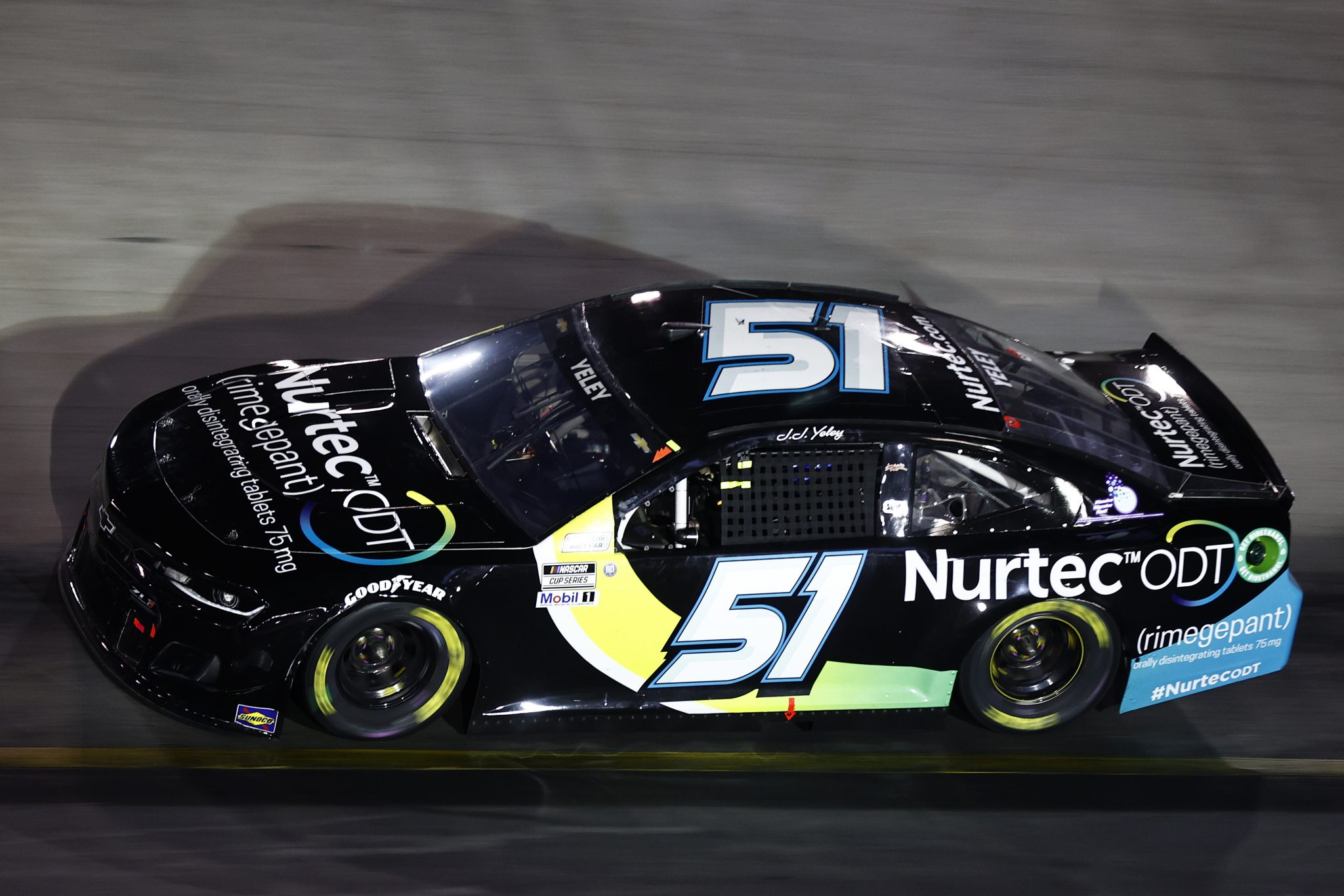 BRISTOL, TENNESSEE - SEPTEMBER 18: JJ Yeley, driver of the #51 Nurtec ODT Chevrolet, drives during the NASCAR Cup Series Bass Pro Shops Night Race at Bristol Motor Speedway on September 18, 2021 in Bristol, Tennessee. (Photo by Jared C. Tilton/Getty Images) | Getty Images