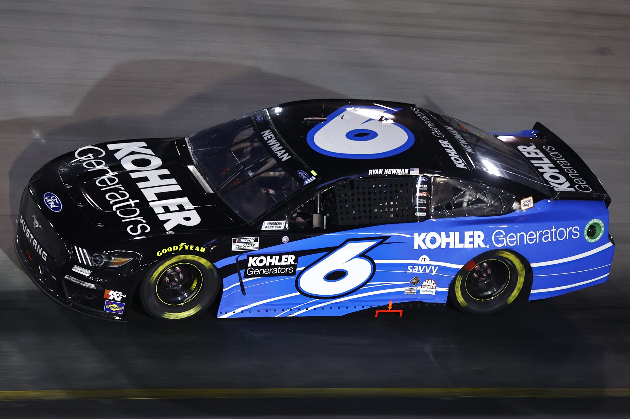 BRISTOL, TENNESSEE - SEPTEMBER 18: Ryan Newman, driver of the #6 Kohler Generators Ford, drives during the NASCAR Cup Series Bass Pro Shops Night Race at Bristol Motor Speedway on September 18, 2021 in Bristol, Tennessee. (Photo by Jared C. Tilton/Getty Images) | Getty Images