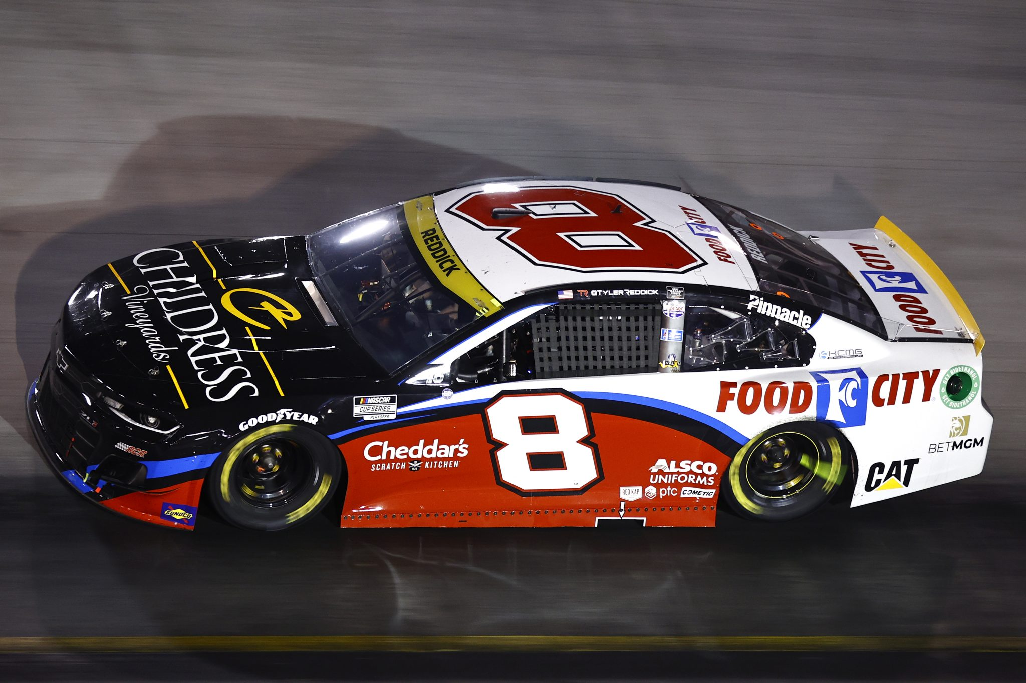 BRISTOL, TENNESSEE - SEPTEMBER 18: Tyler Reddick, driver of the #8 Food City/Childress Vineyards Chevrolet, drives during the NASCAR Cup Series Bass Pro Shops Night Race at Bristol Motor Speedway on September 18, 2021 in Bristol, Tennessee. (Photo by Jared C. Tilton/Getty Images)   Getty Images
